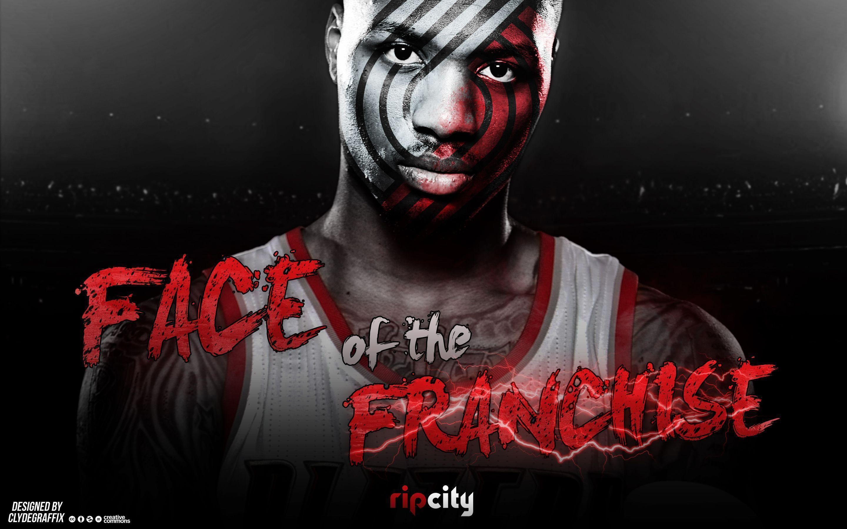 Damian Lillard | Face of the Franchise | Wallpaper by ClydeGraffix ...