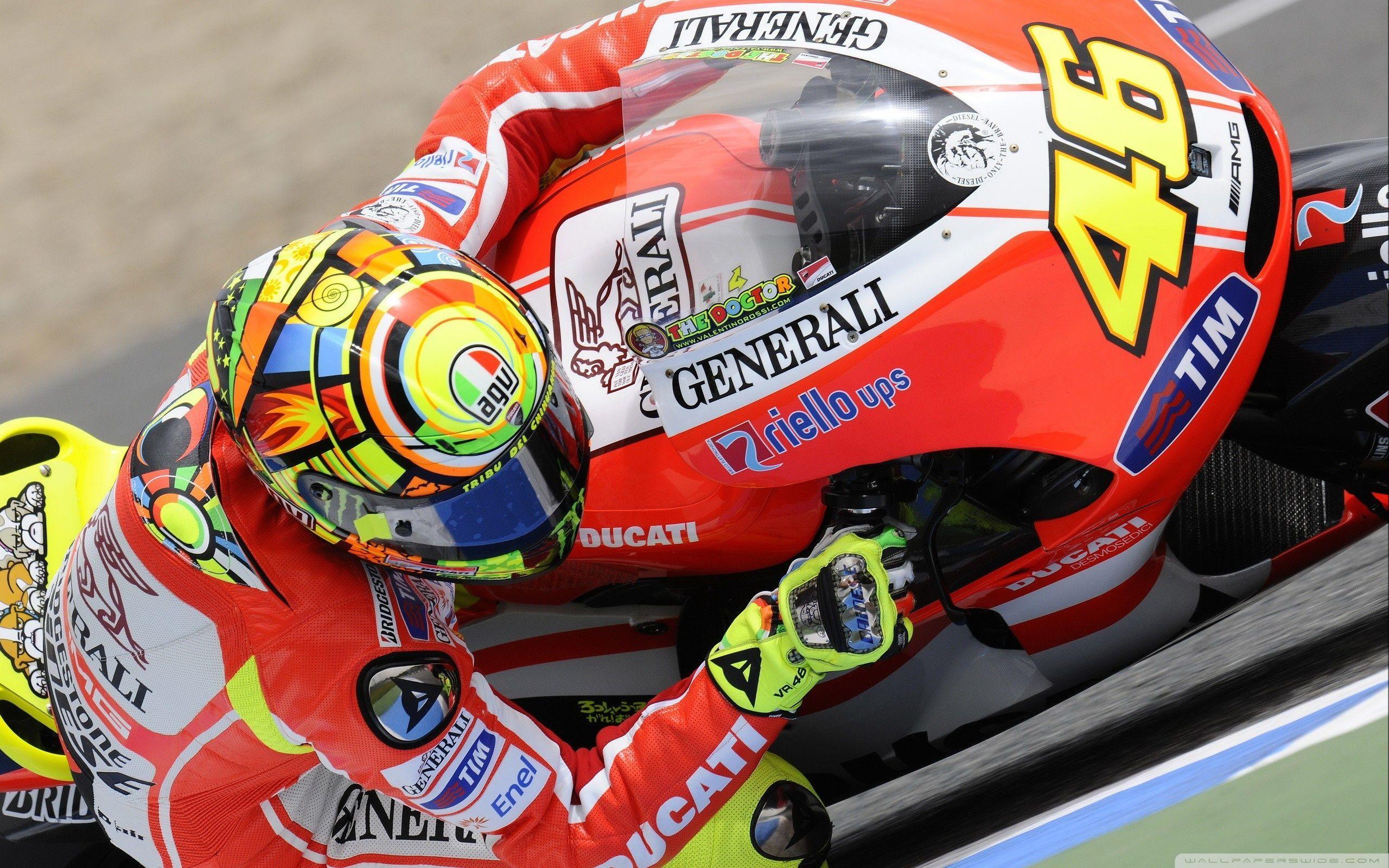 Valentino Rossi Ducati Bike MotoGP World Championship HD desktop ...