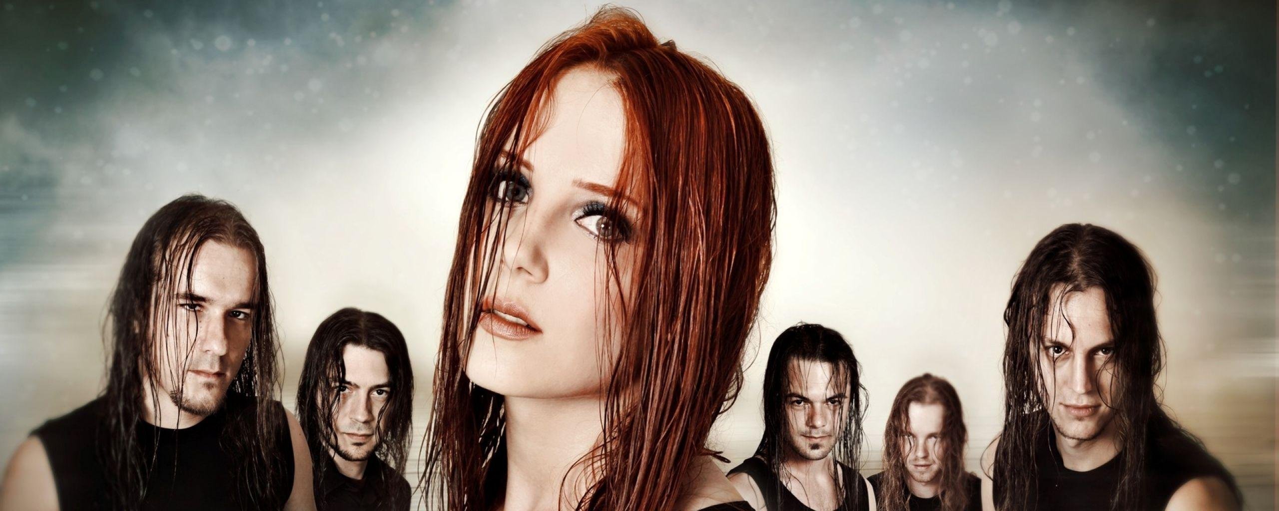 Download Wallpaper 2560x1024 Epica, Girl, Hair, Look, Background ...