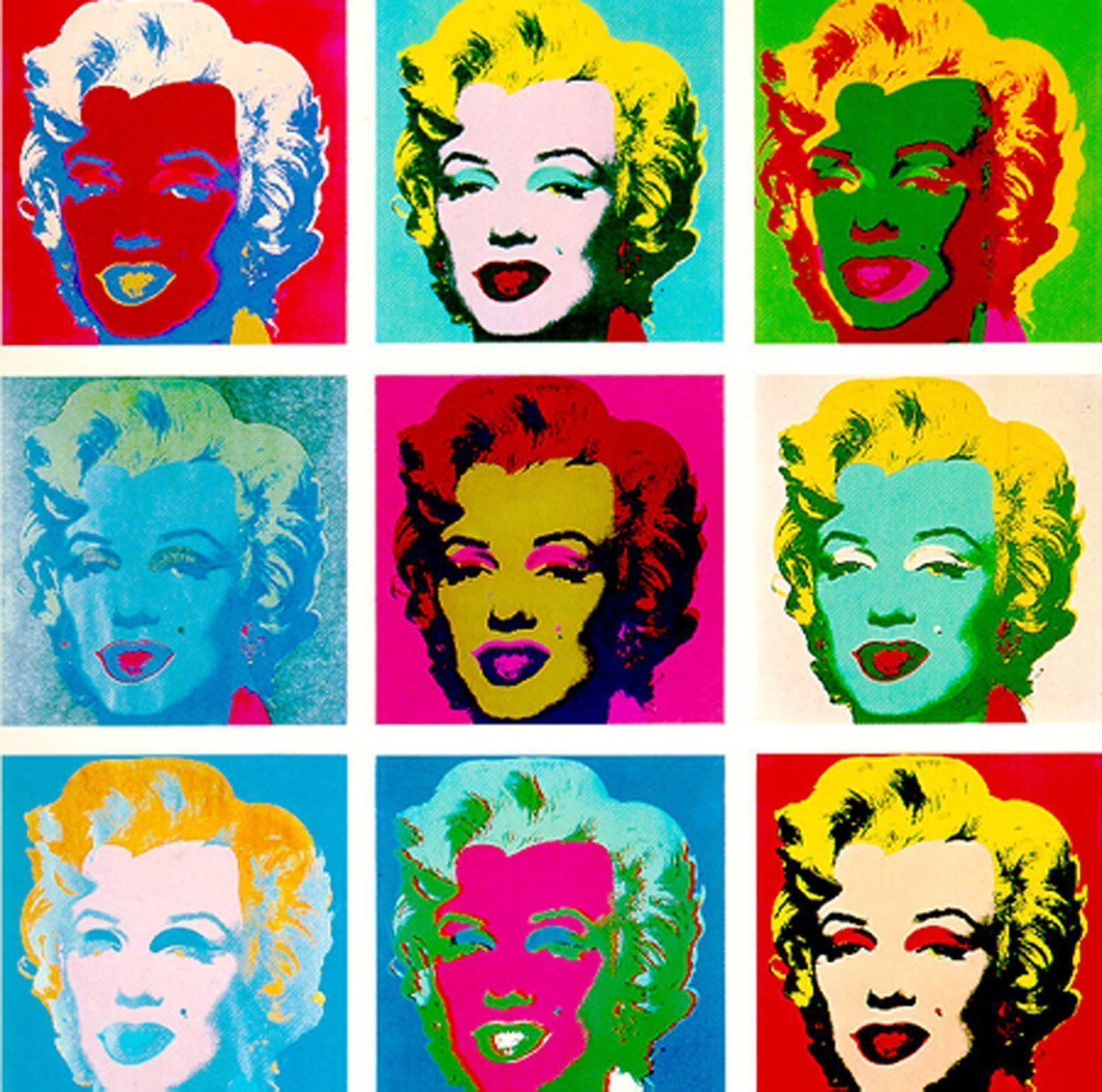 Painting of Andy Warhol Colorful heads wallpapers and images ...