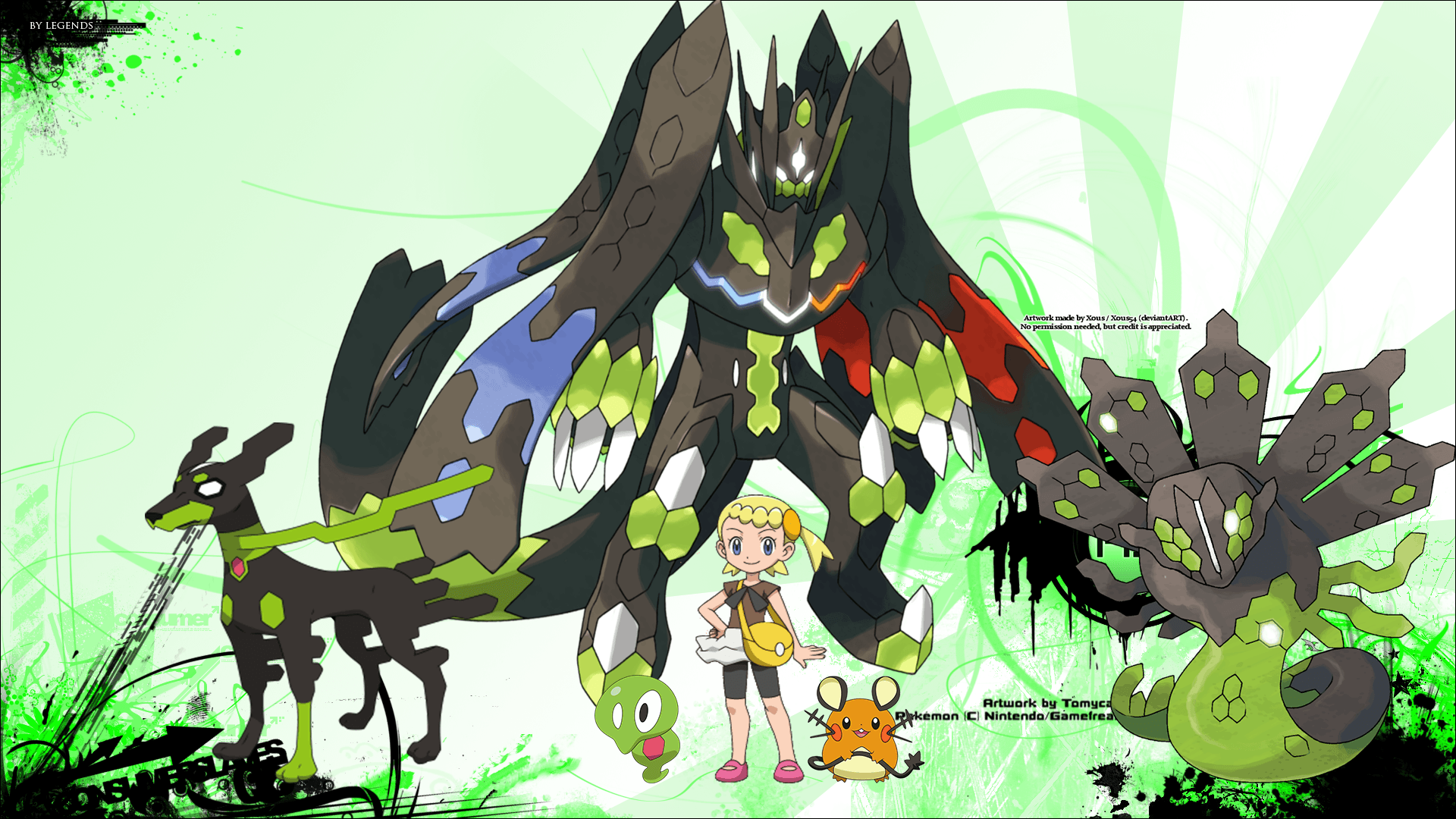 Pokemon Xyz Binnie And Zygote by SizarStathis