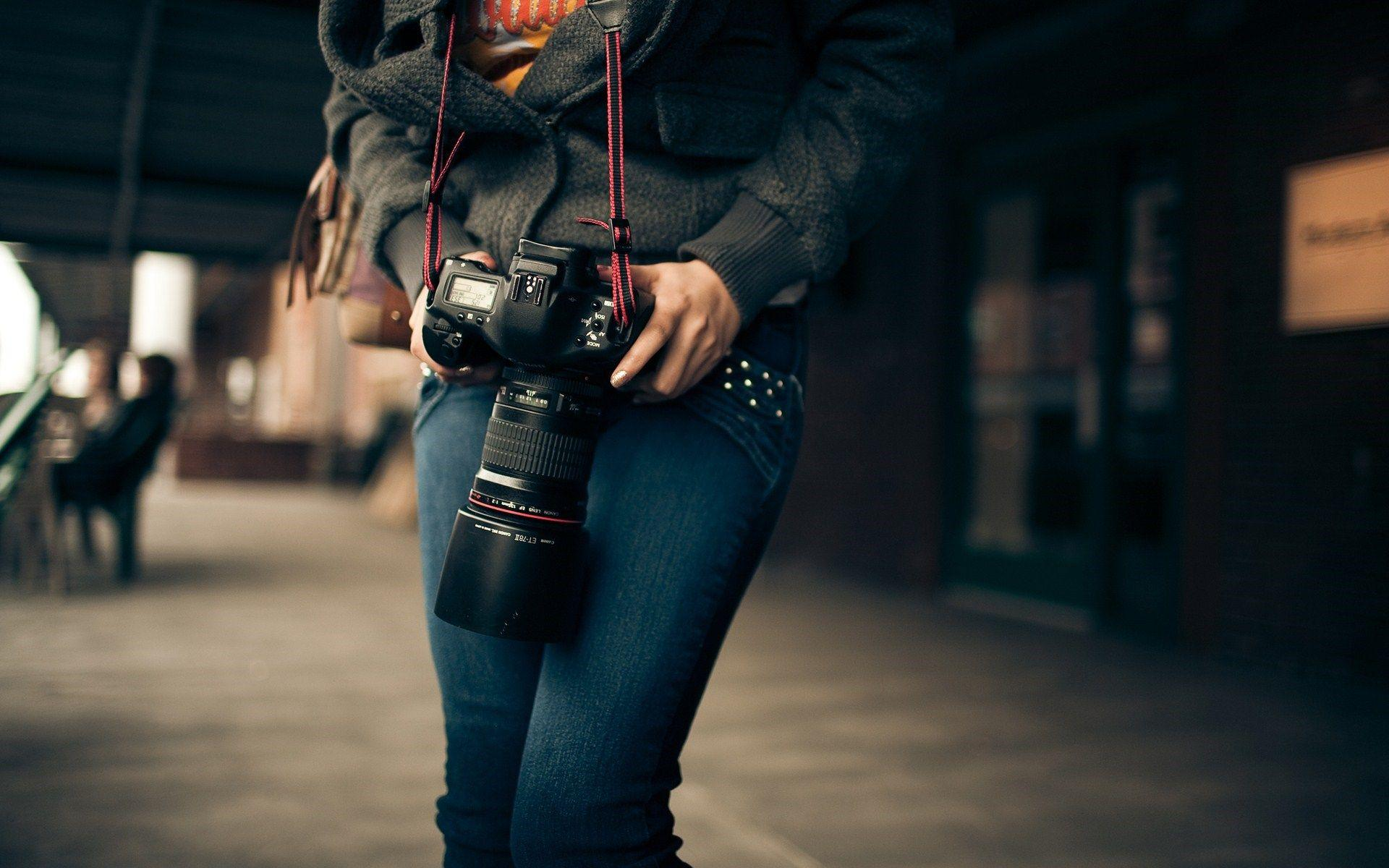camera, lens, station, photo, nikon, girl, photographer, hd, wallpaper