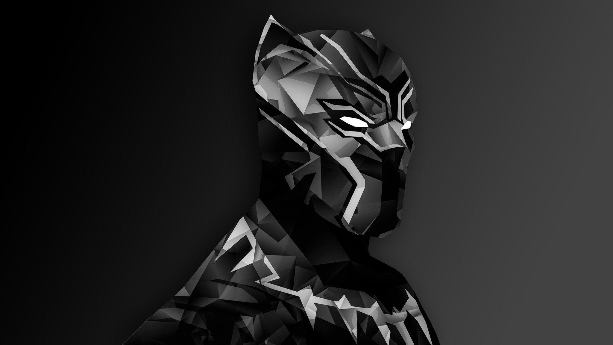 Download Black Panther Digital Art HD Wallpapers In 2048x1152