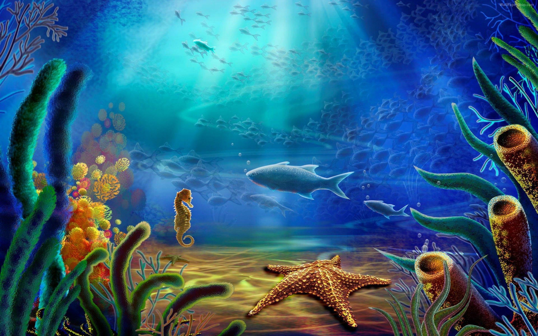 underwater painting plants - HD1920×1080
