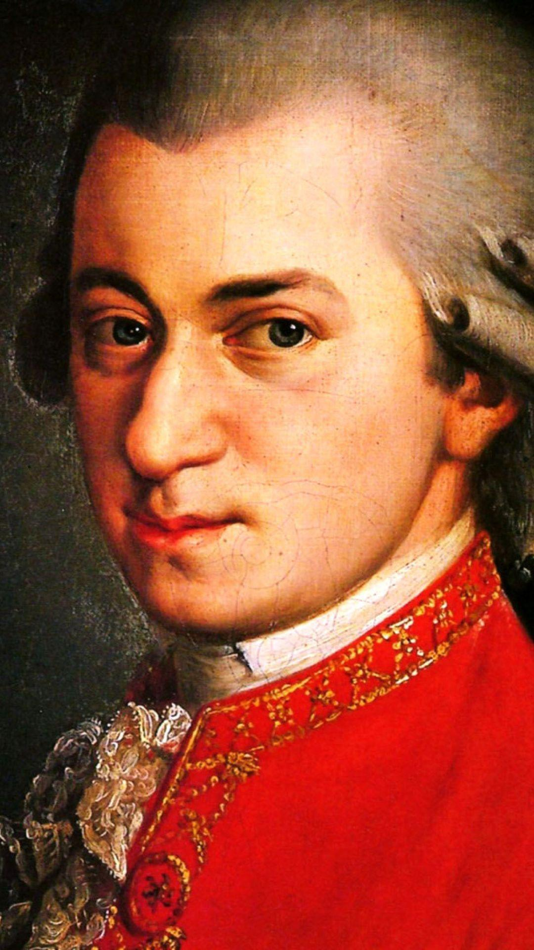 Wolfgang Amadeus Mozart Wallpaper for 1080x1920