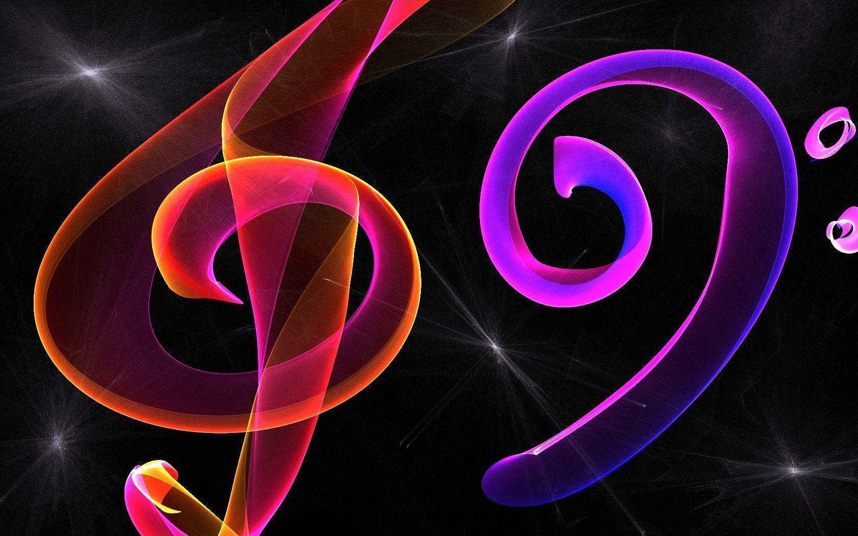 Neon Colorful Music Symbols Search For Pictures