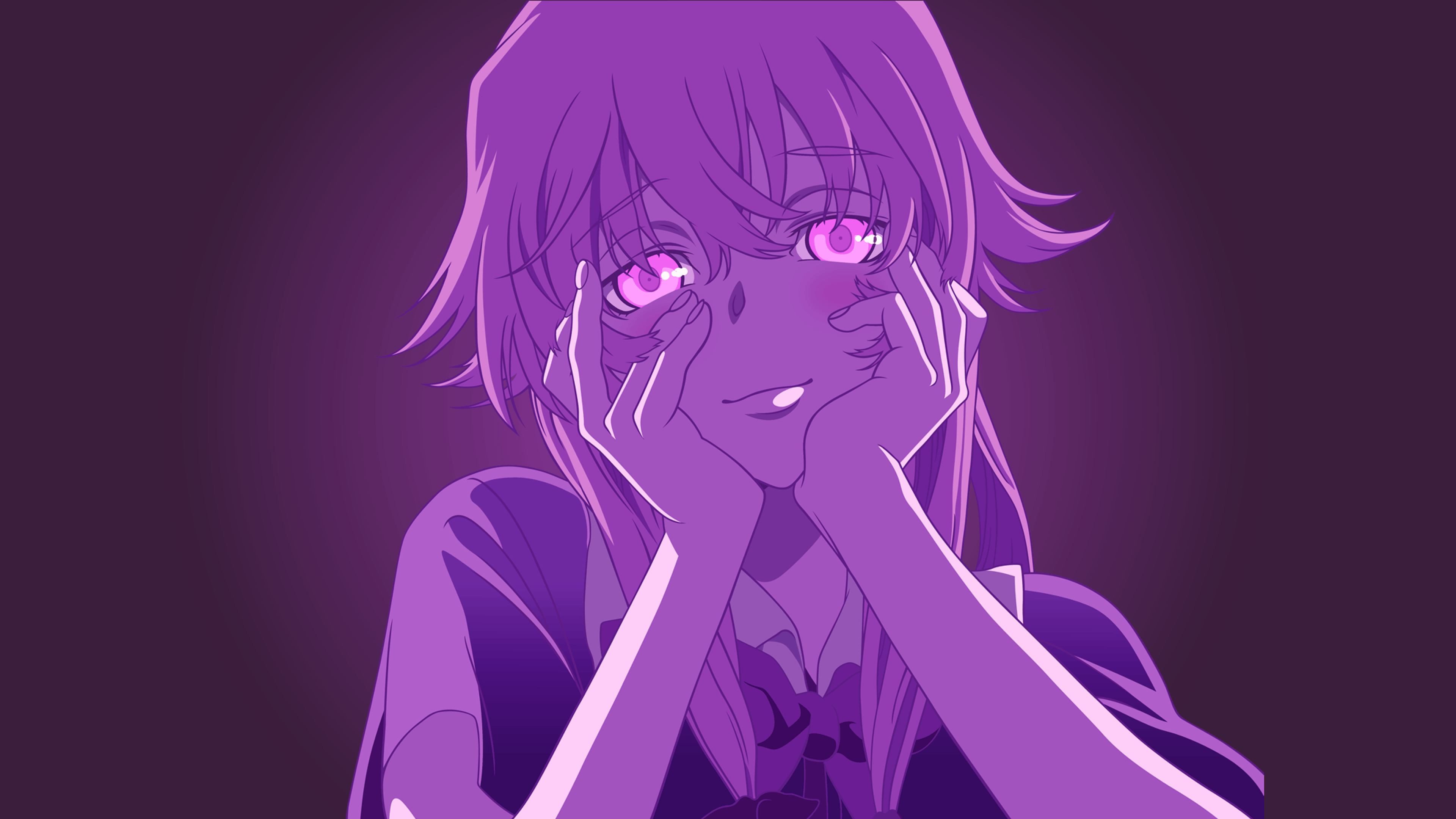 Gasai Yuno Anime Girls Yandere Mirai Nikki HD Wallpapers