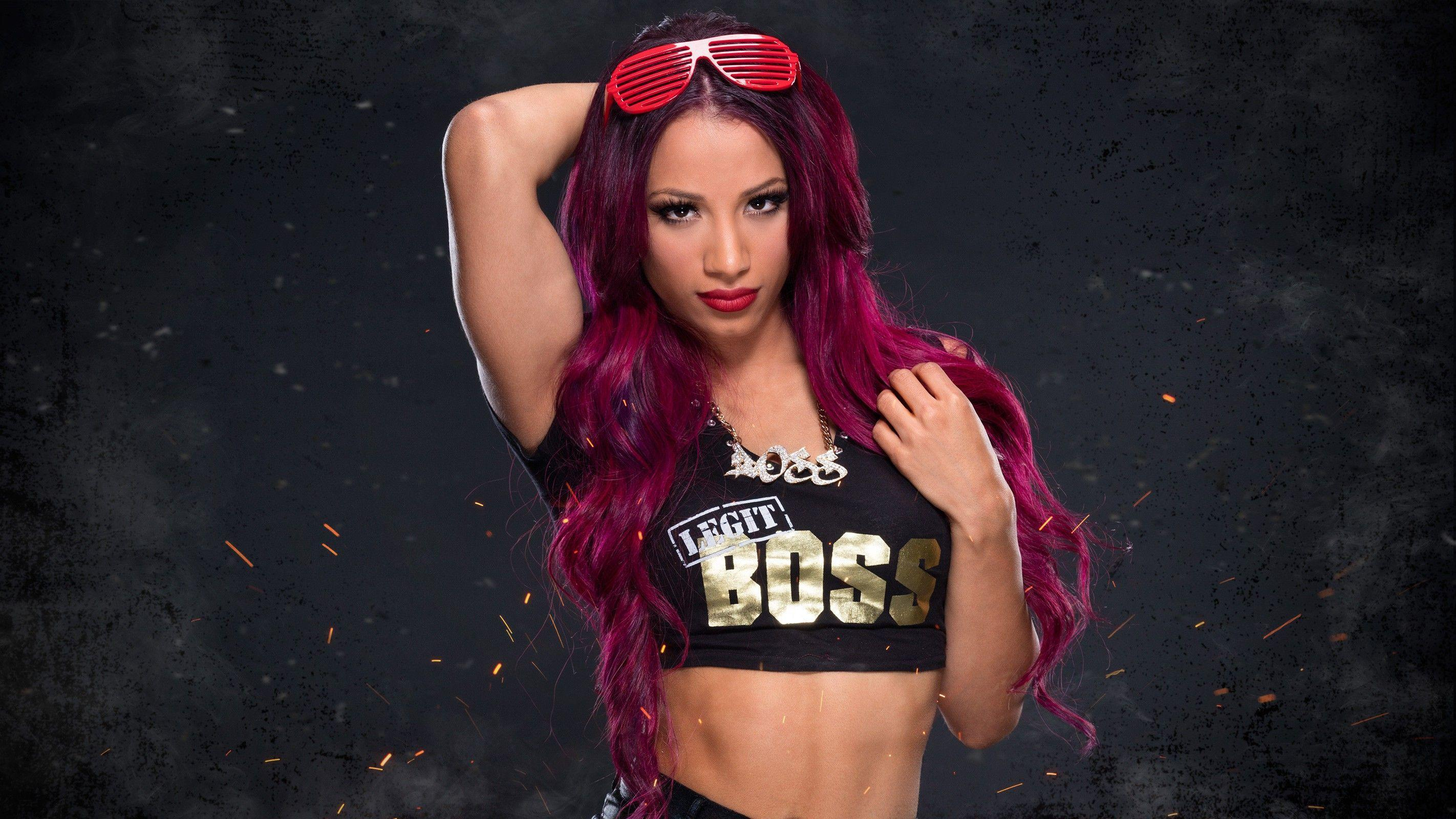 c907cf3d4 dyed hair, #purple hair, #WWE, #wrestling, #Sasha Banks