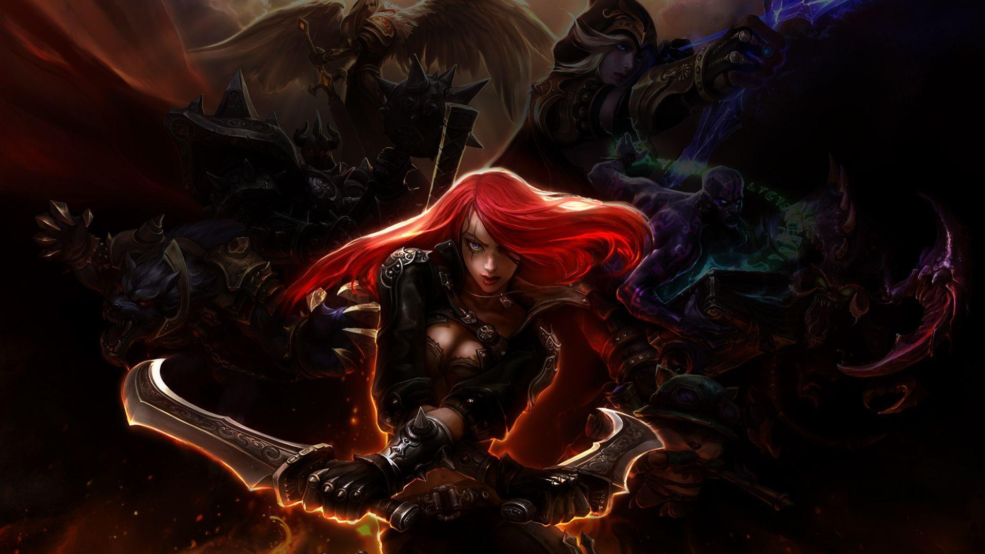 Katarina Lol Wallpaper 4k