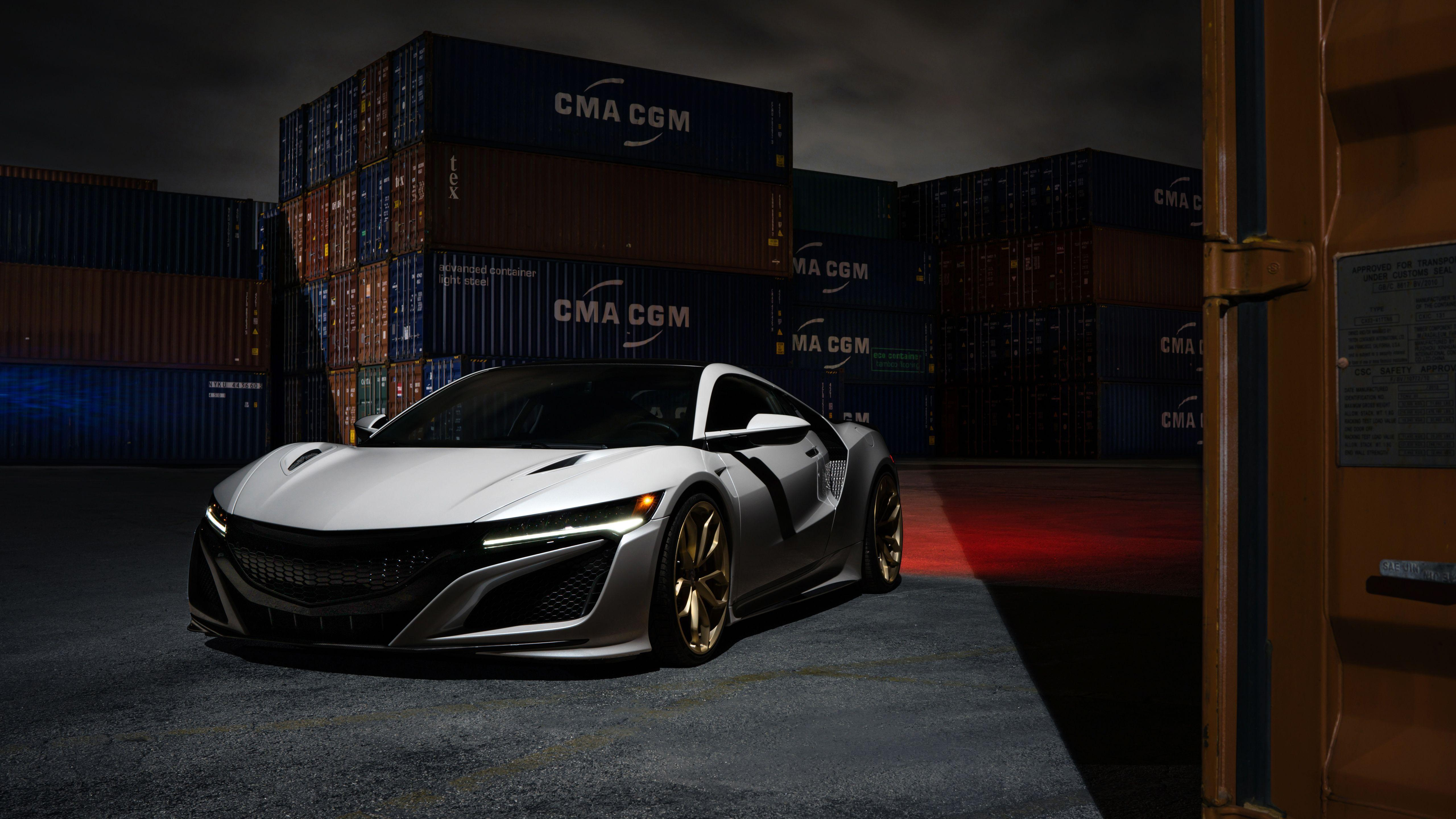 2017 Acura NSX HRE Wheels 5K Wallpapers
