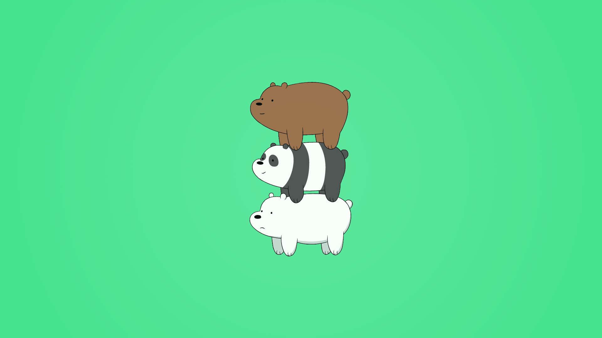 Bearstack wallpaper (Variations in comments) : webarebears