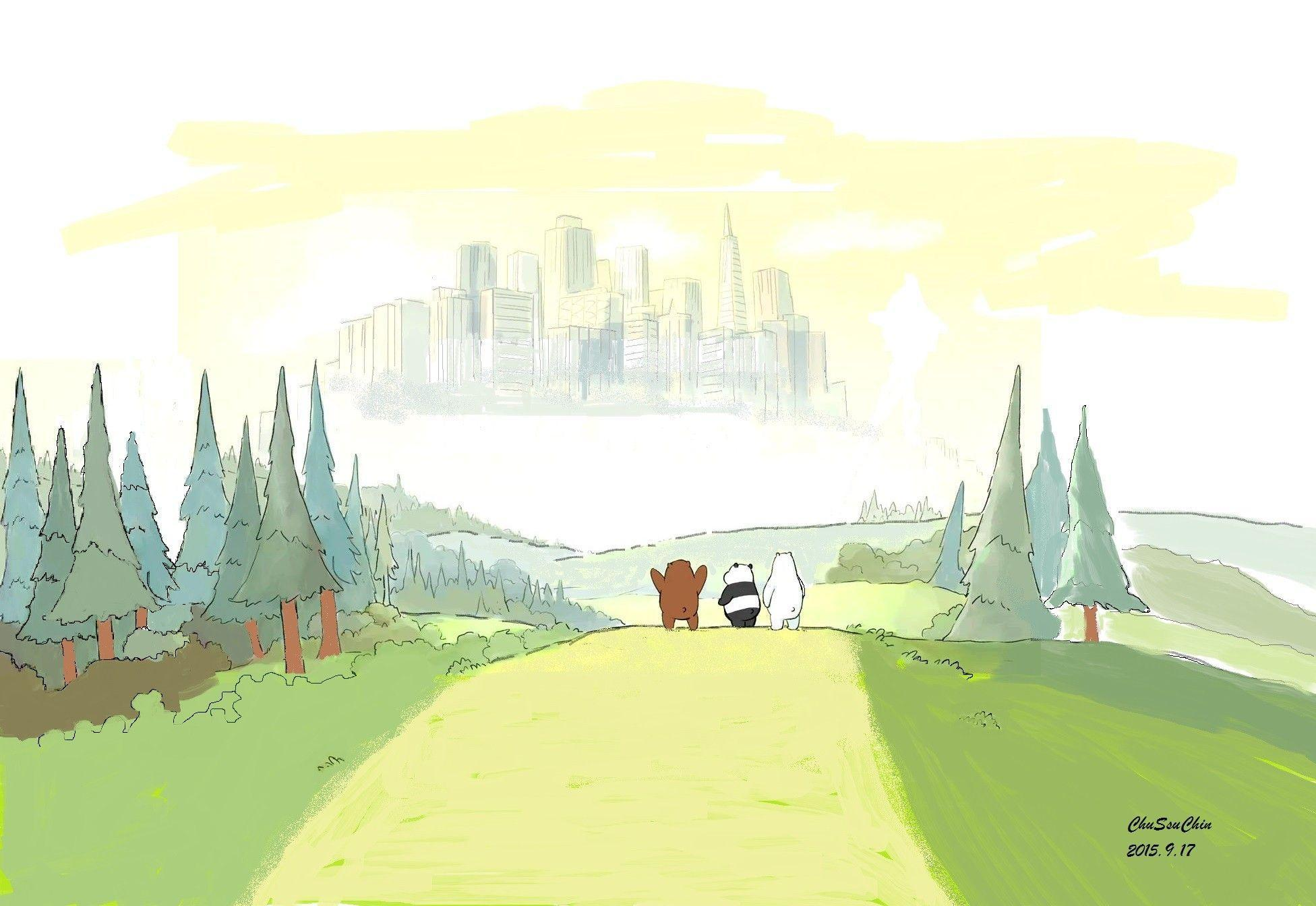 cartoon, #We Bare Bears, #drawing | Wallpaper No. 261016 ...