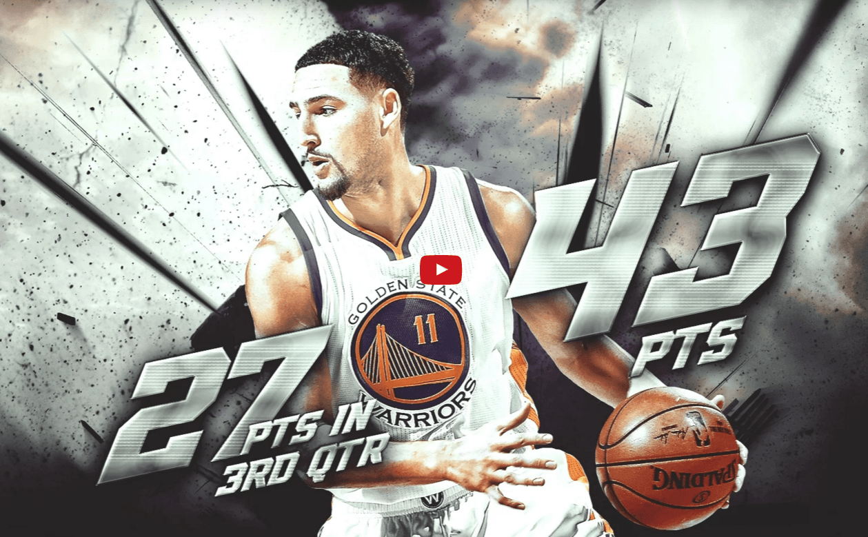 WATCH: Klay Thompson Drops 43 Points on the Suns