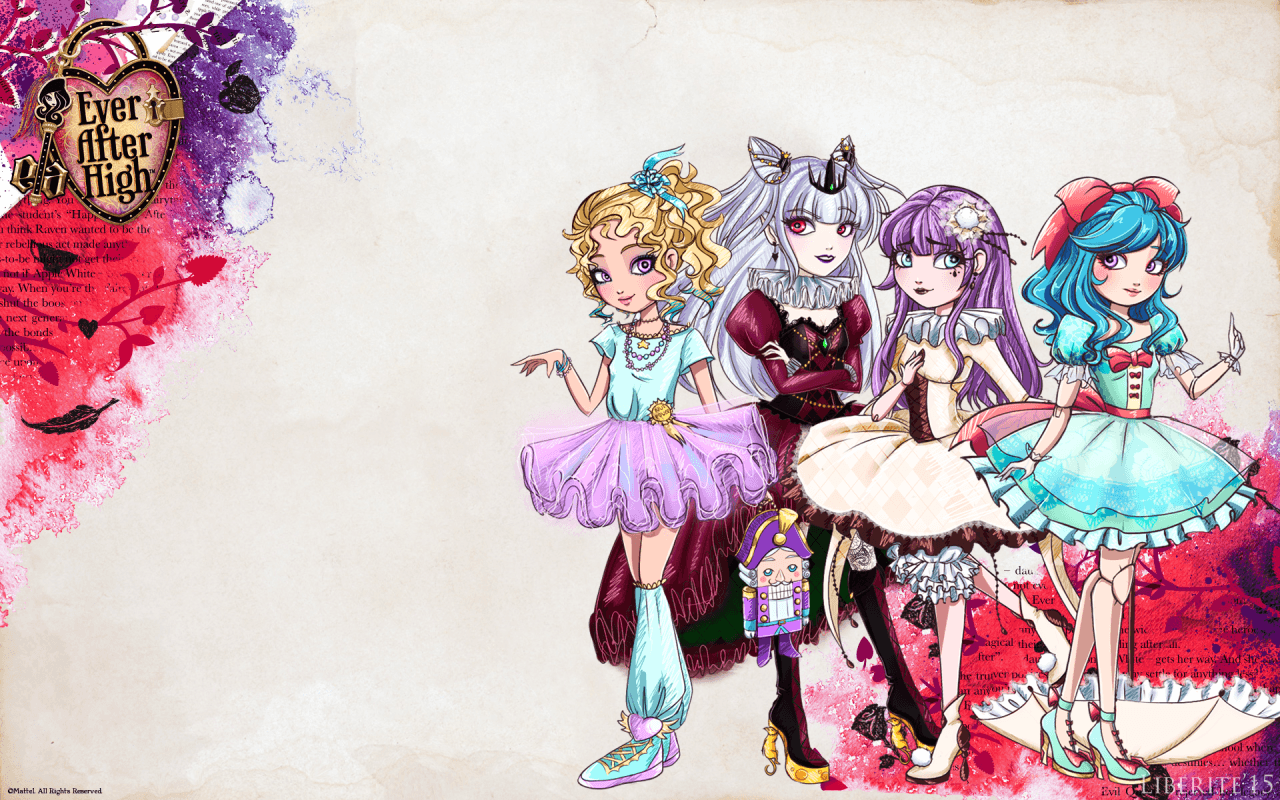 It is an image of Eloquent Ever After High Characters