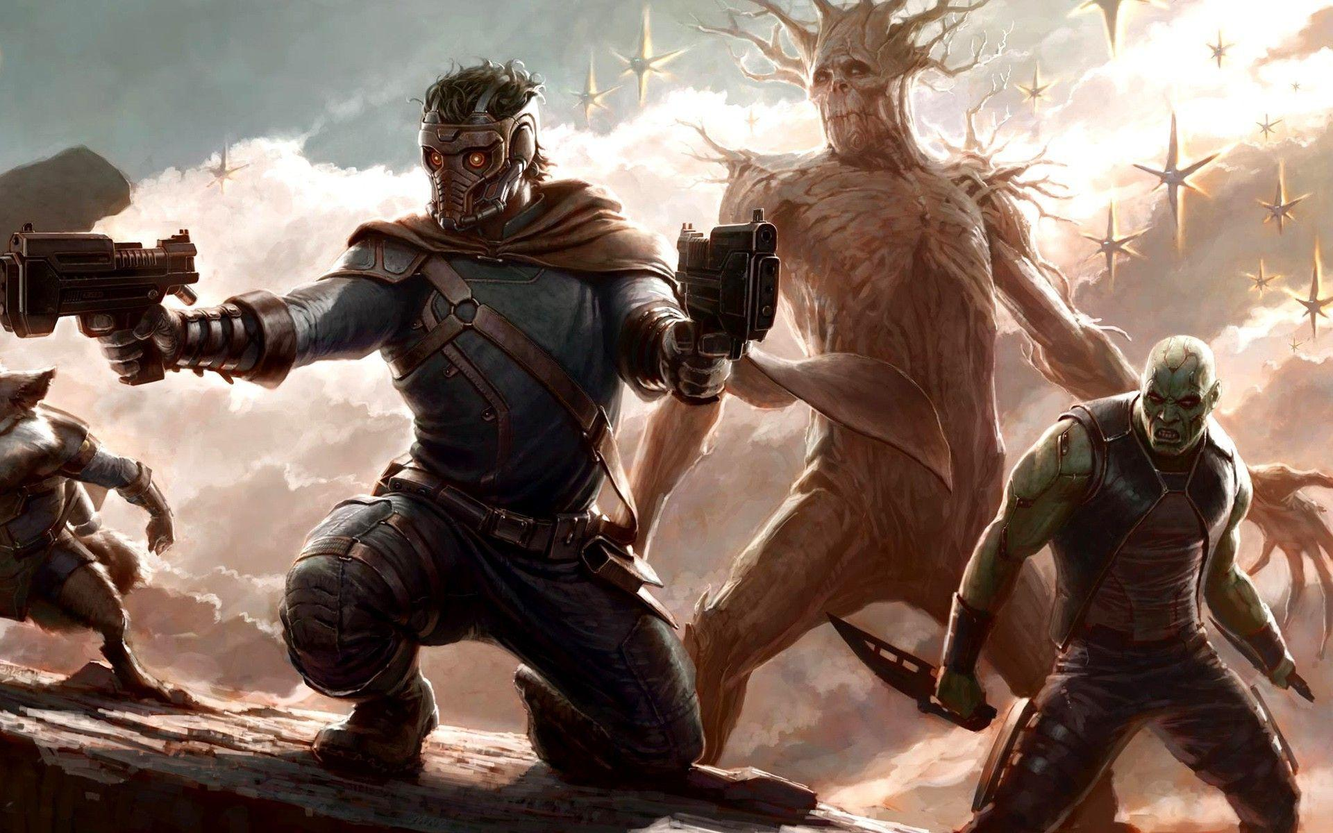 Guardians Of The Galaxy, Groot, Drax The Destroyer, Star Lord