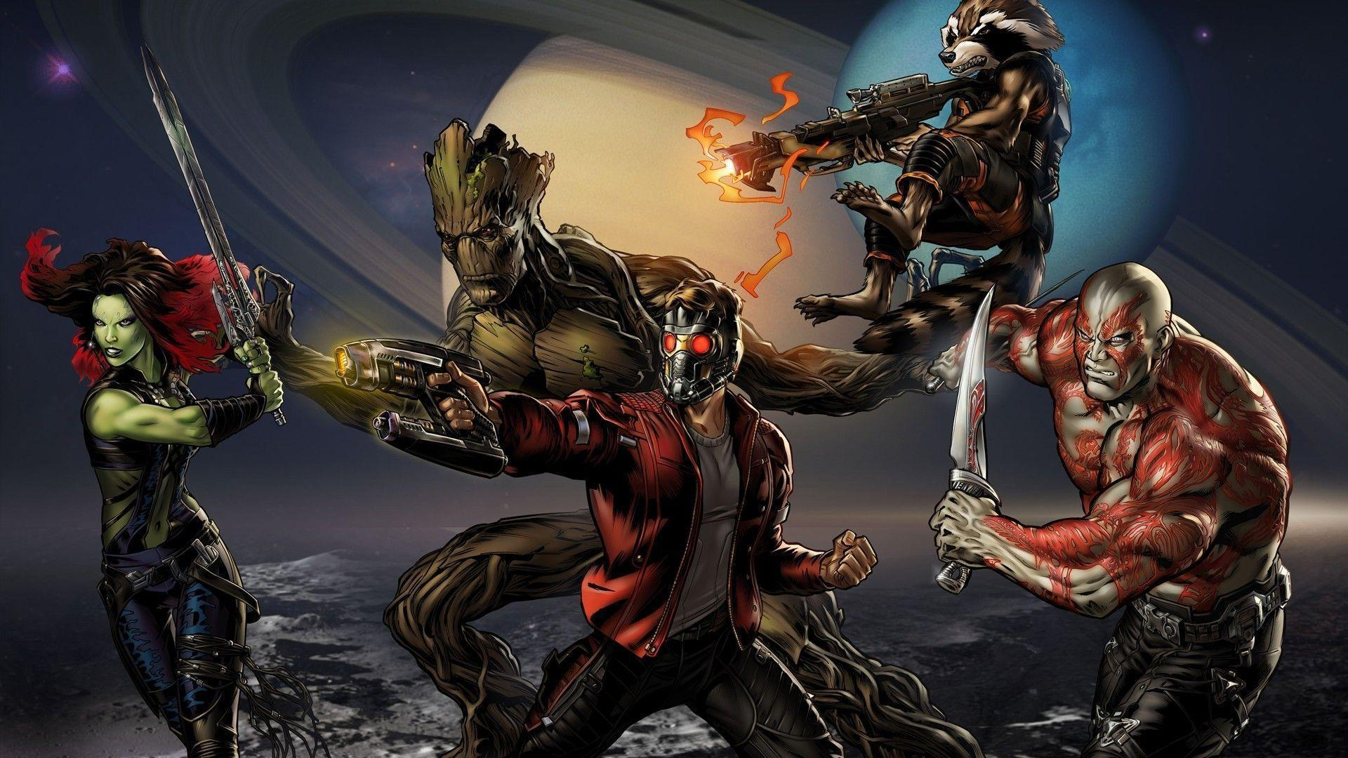 Star Lord And Rocket Raccoon By Timothygreenii On Deviantart: Star Lord Wallpapers