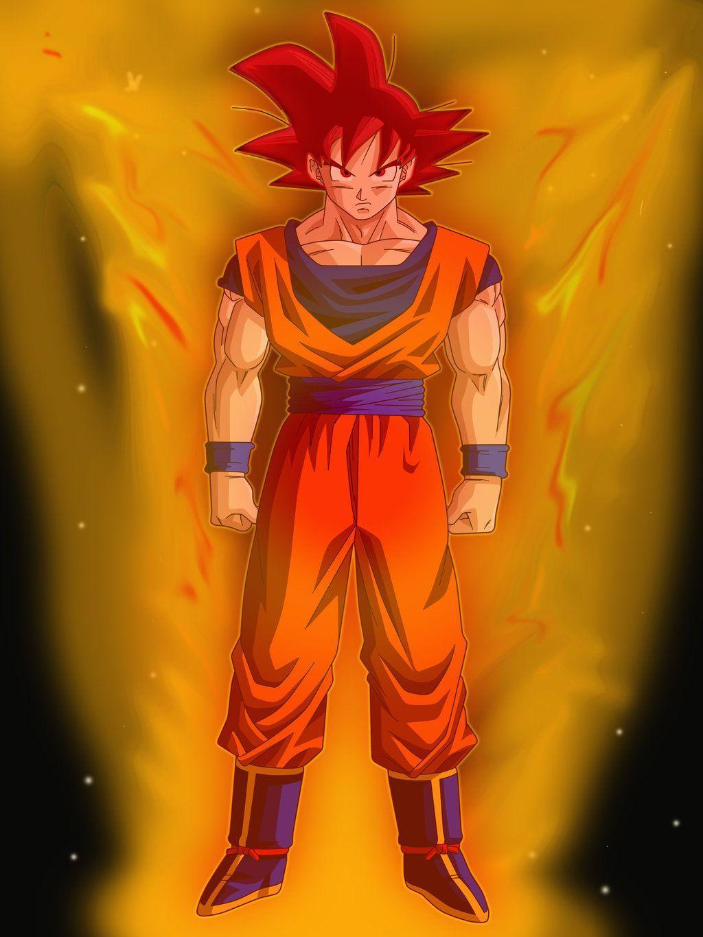 Goku Super Saiyan God by Sevolfo on DeviantArt |Goku Super Sayian God