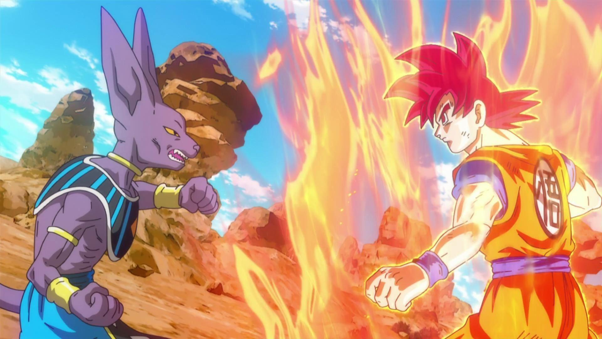 Dragon Ball Z Battle of Gods Bills vs Son Goku Super Saiyan God