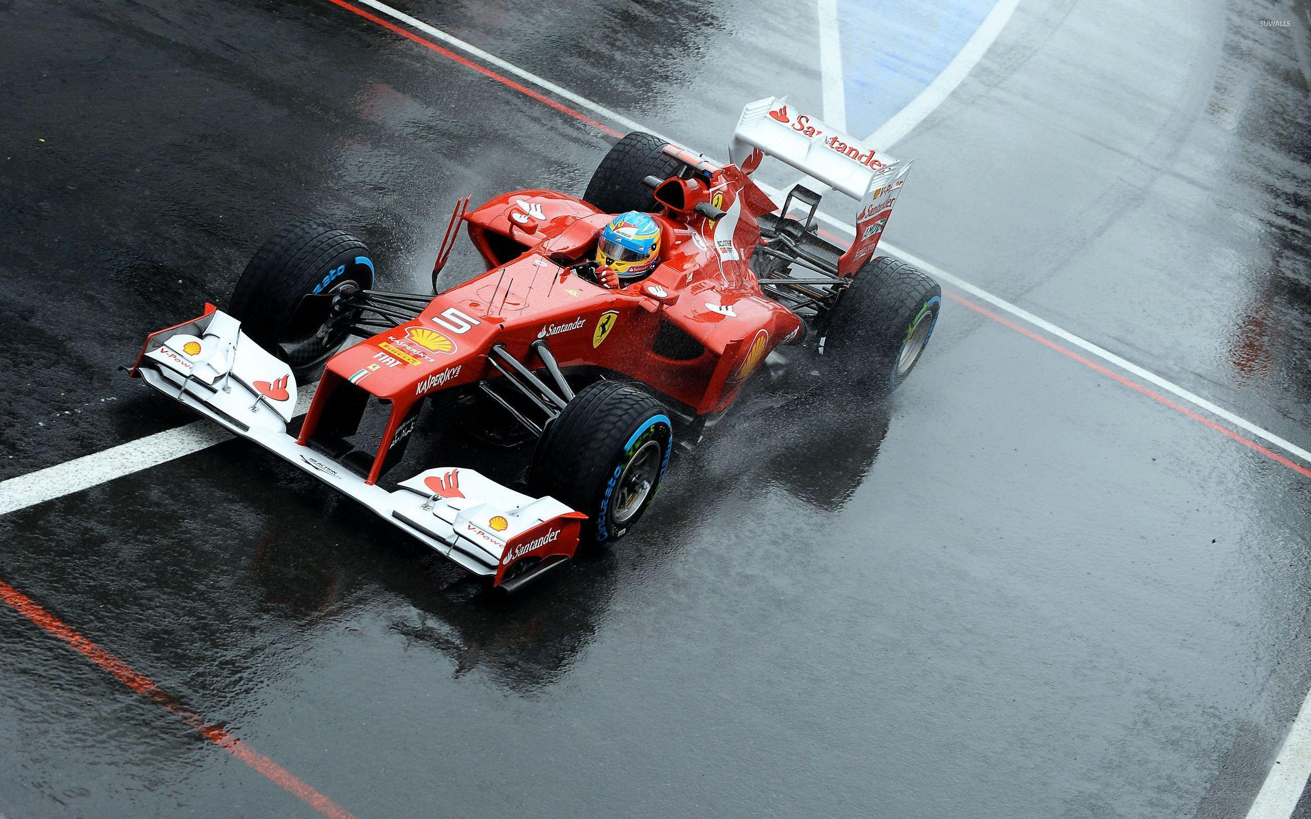 Fernando Alonso during a race in a Scuderia Ferrari wallpapers