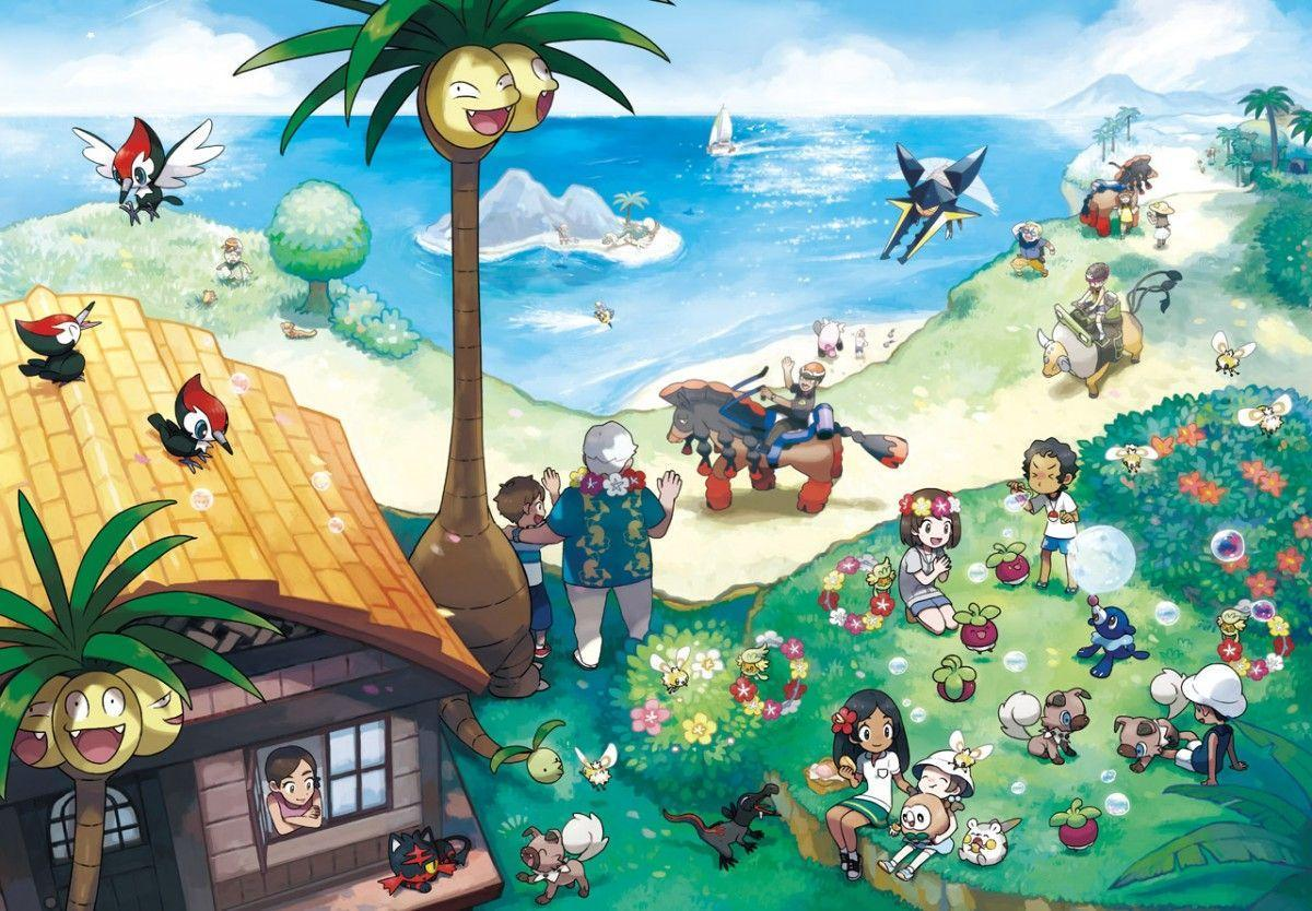 Pokemon Sun and Moon's new Alola artwork is wallpapers worthy