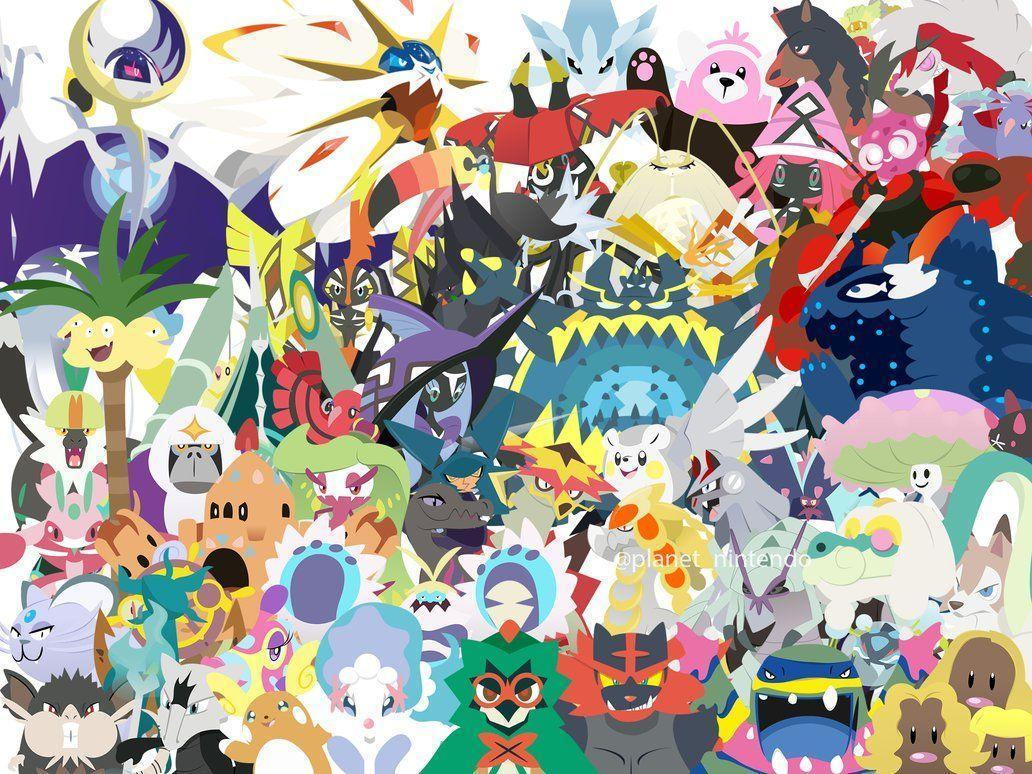 pok233mon sun and moon wallpapers wallpaper cave