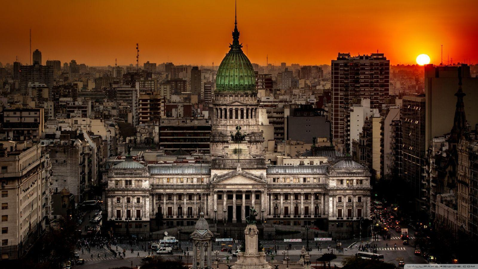 Argentine National Congress Palace Buenos Aires, Argentina HD ...