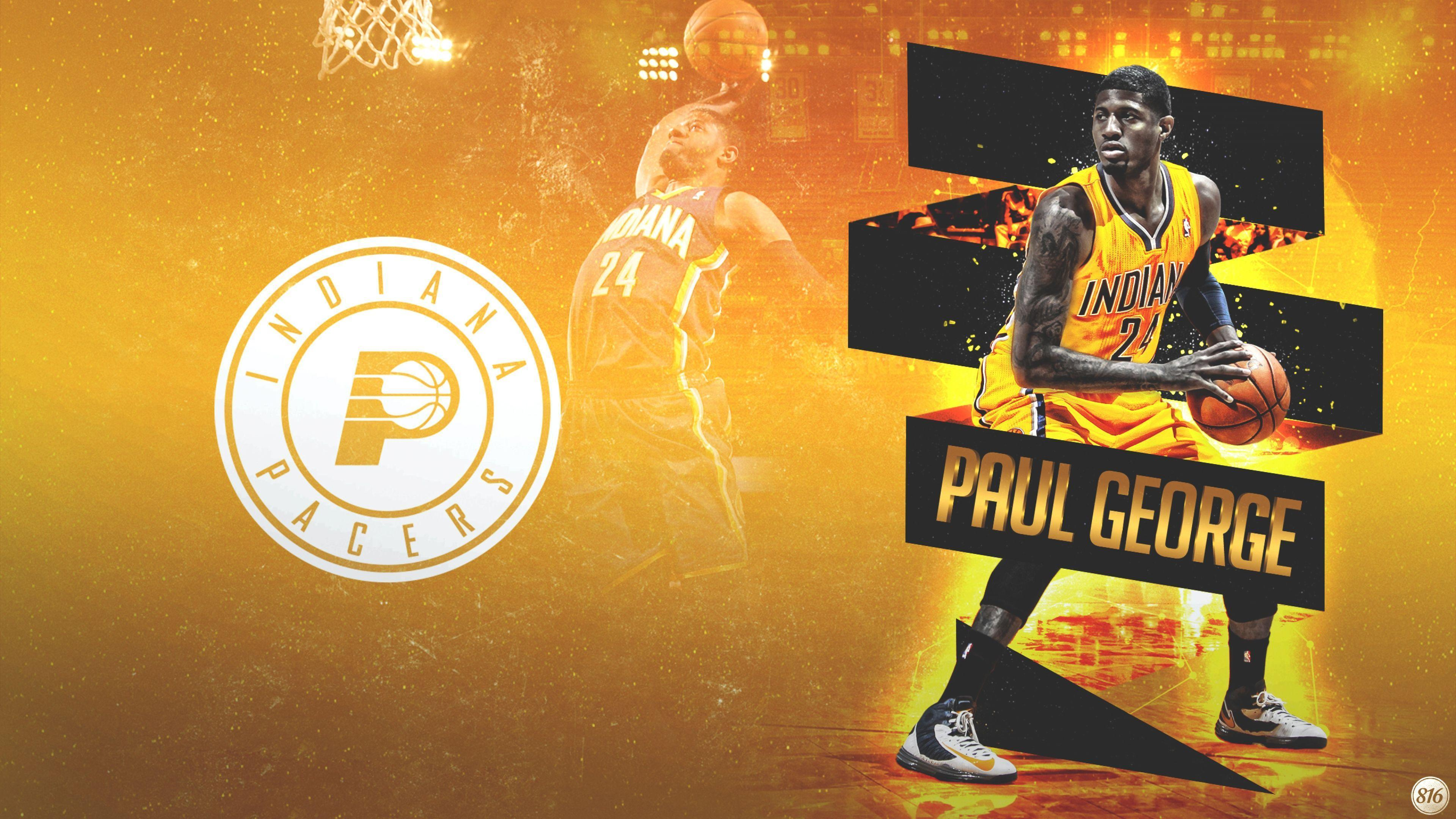 Download Wallpaper 3840x2160 Paul george, Indiana, Pacers ...