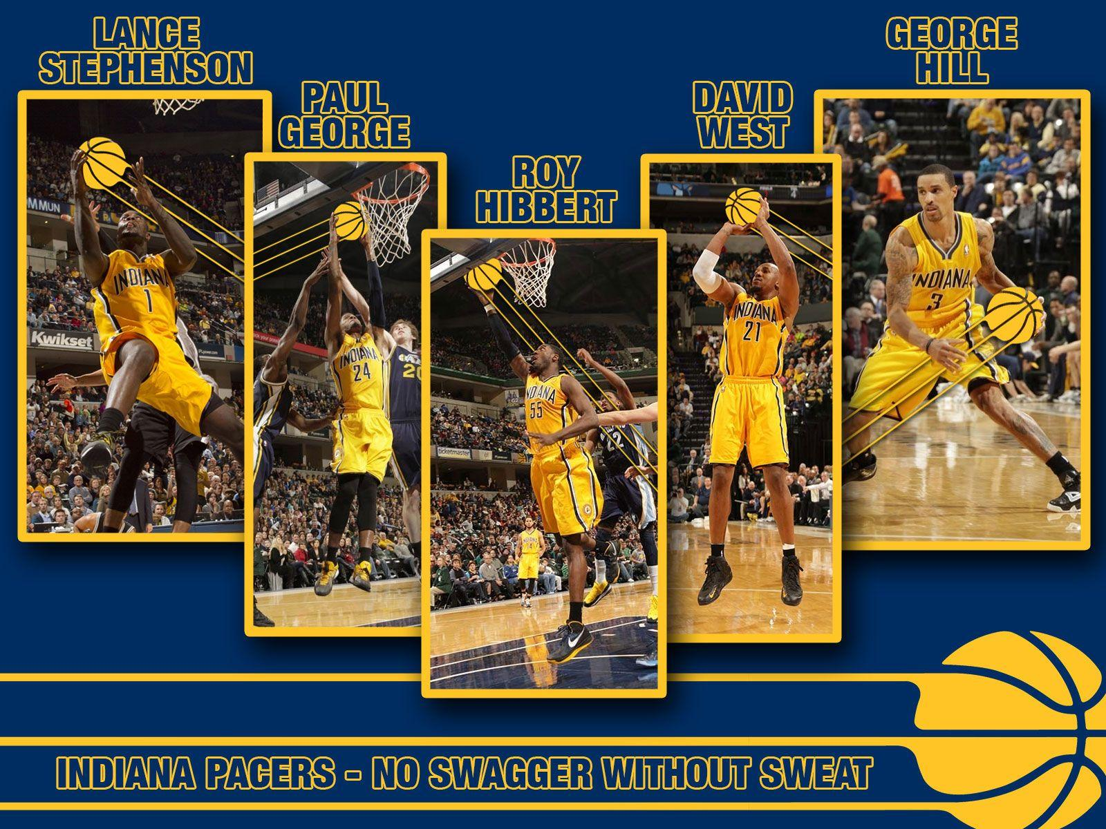 Indiana Pacers 2013 Starters 1600×1200 Wallpaper | Basketball ...