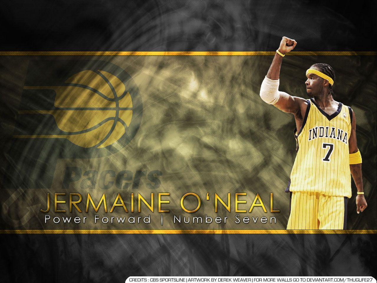 Jermaine O'Neal Indiana Pacers Wallpaper | Basketball Wallpapers ...