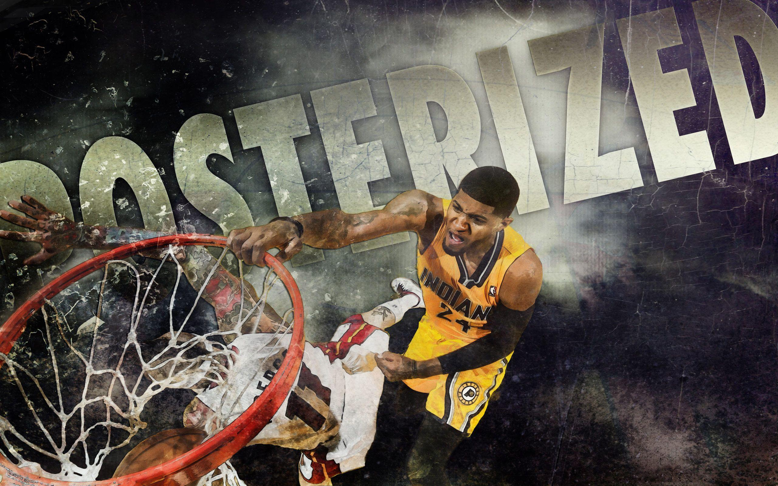 2014 Paul George Indiana Pacers NBA | Desktop Wallpaper ...