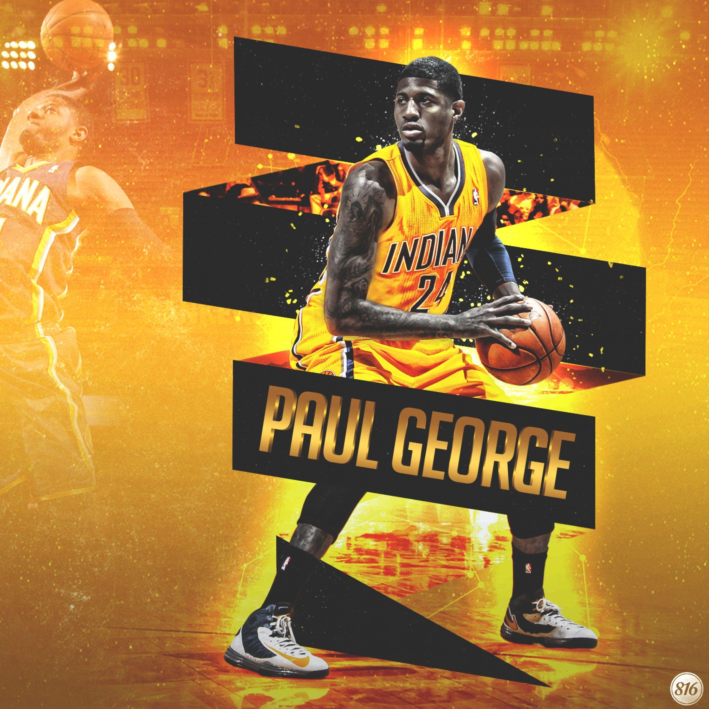 Download Wallpaper 2732x2732 Paul george, Indiana, Pacers ...