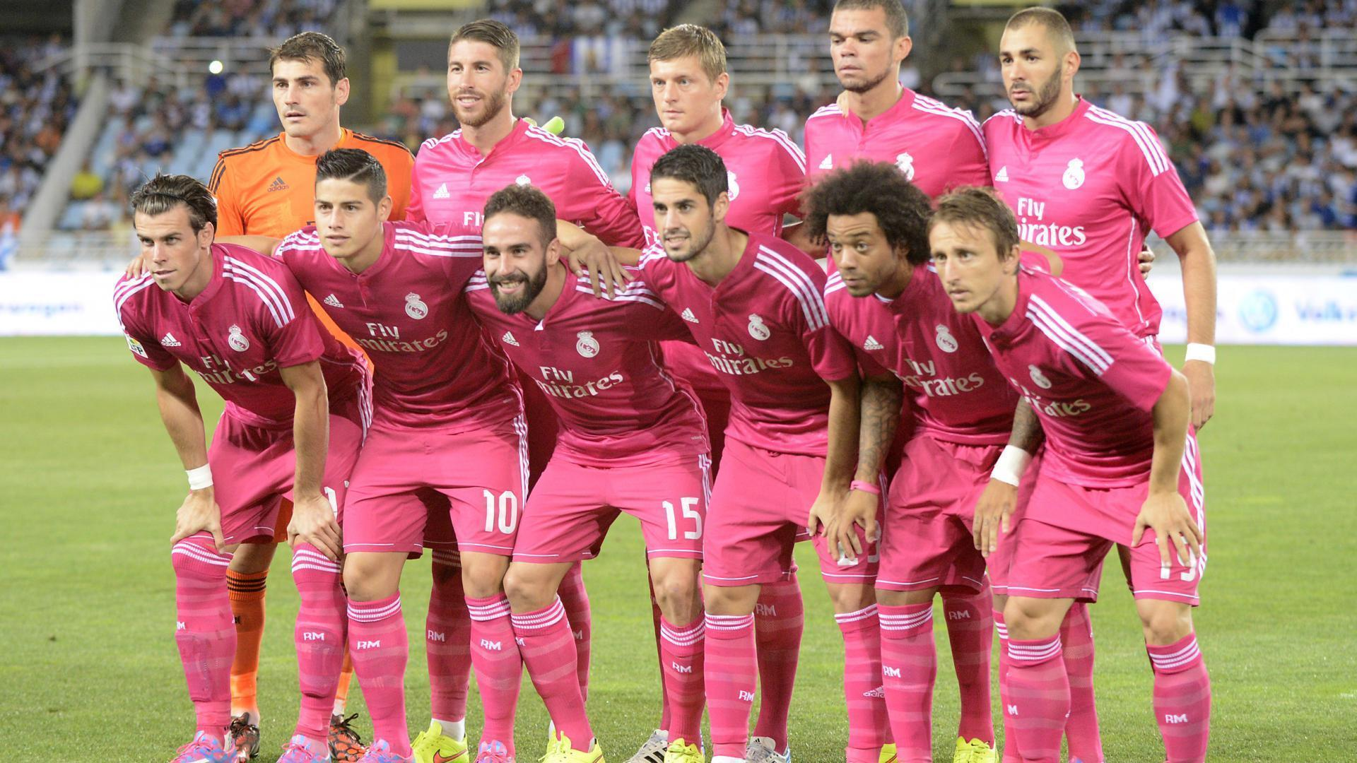 Wallpapers Real Madrid Pictures Squad Full Team In Pink On Cover Hd