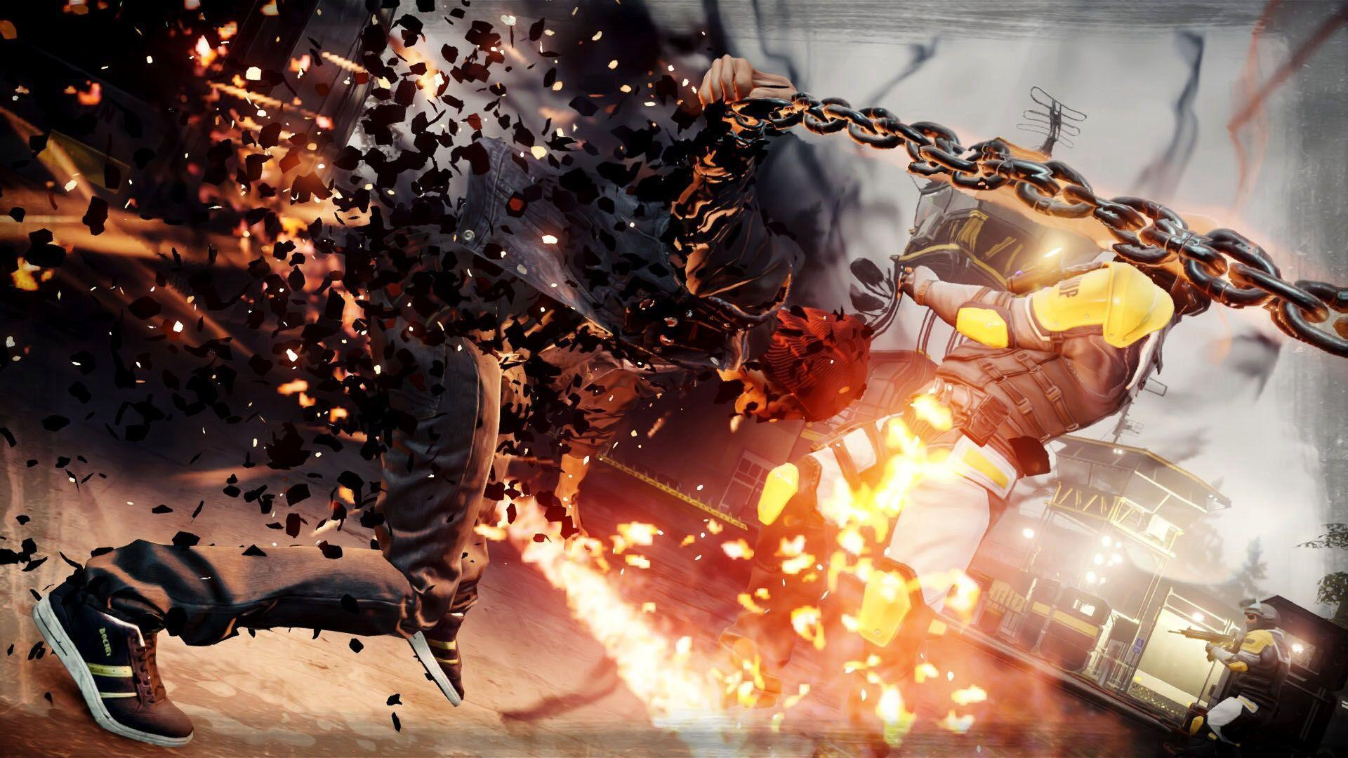 Delsin fighting with Chains, inFAMOUS Second Son - 1920x1080 ...