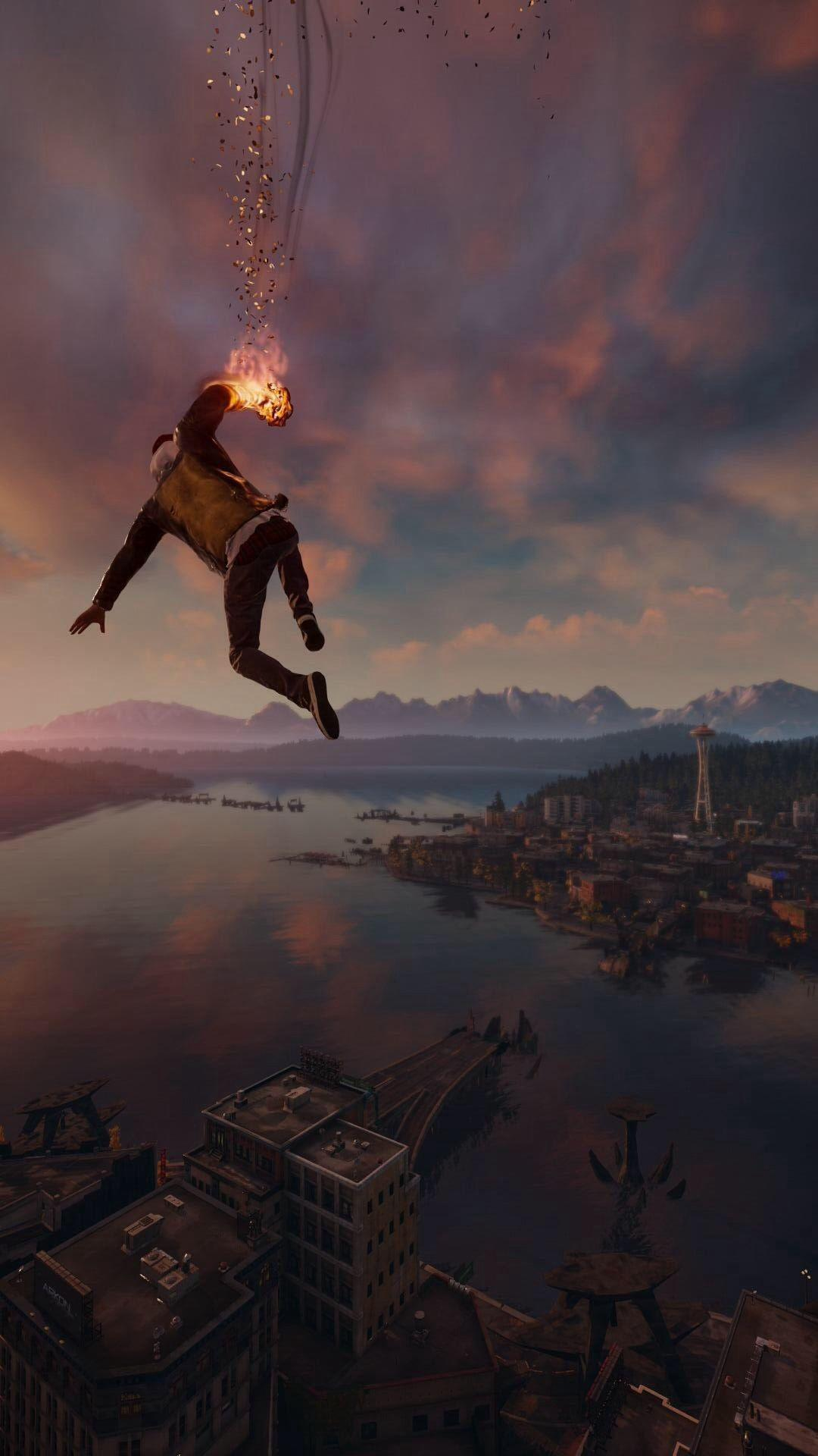 Infamous Second Son Smoke Ability City View Android Wallpaper free ...