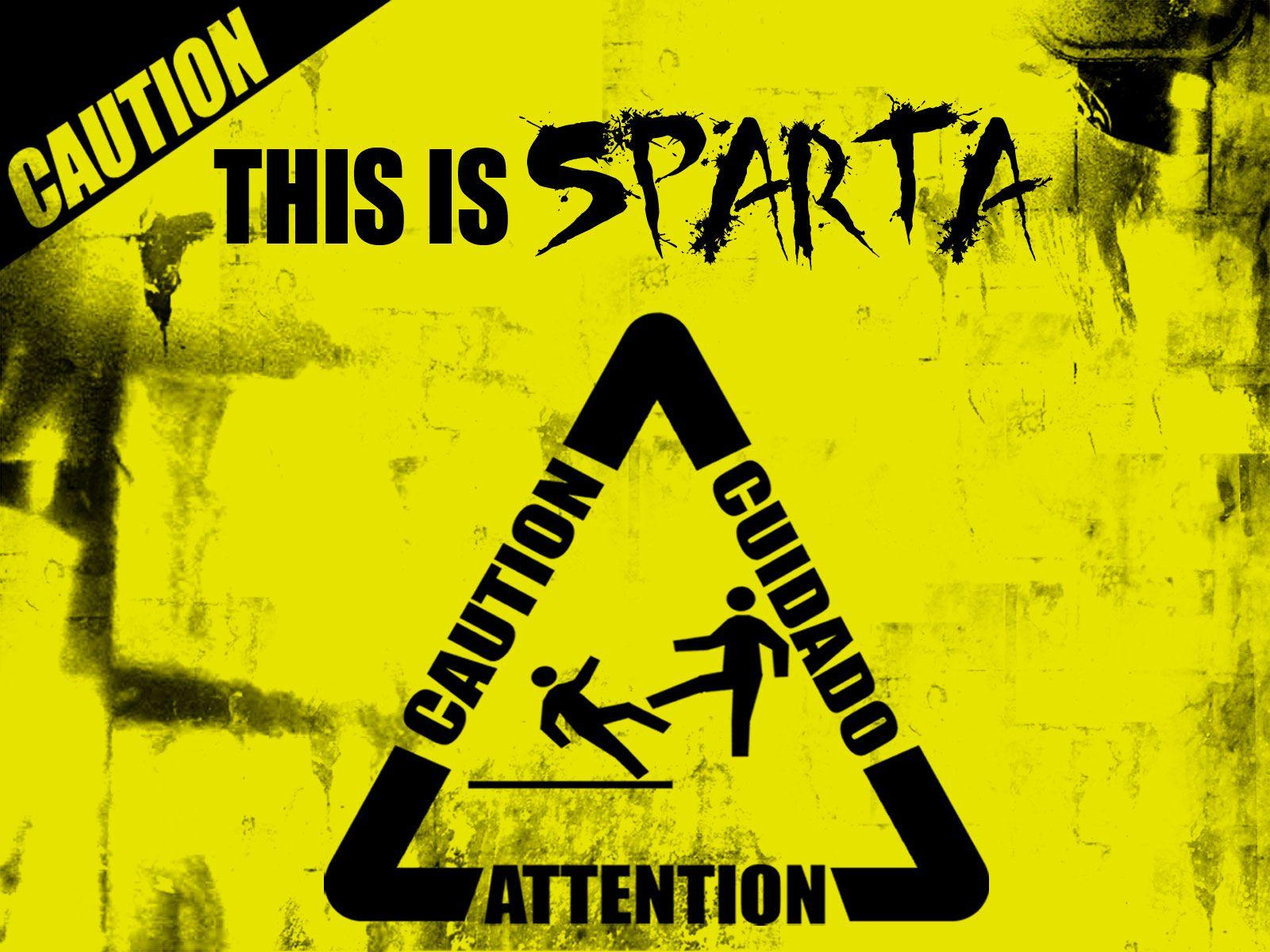 Caution This is Sparta Wallpaper - WallpaperSafari
