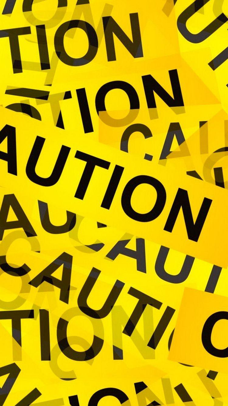 Caution Yellow Tape iPhone 6 Wallpaper / iPod Wallpaper HD - Free ...