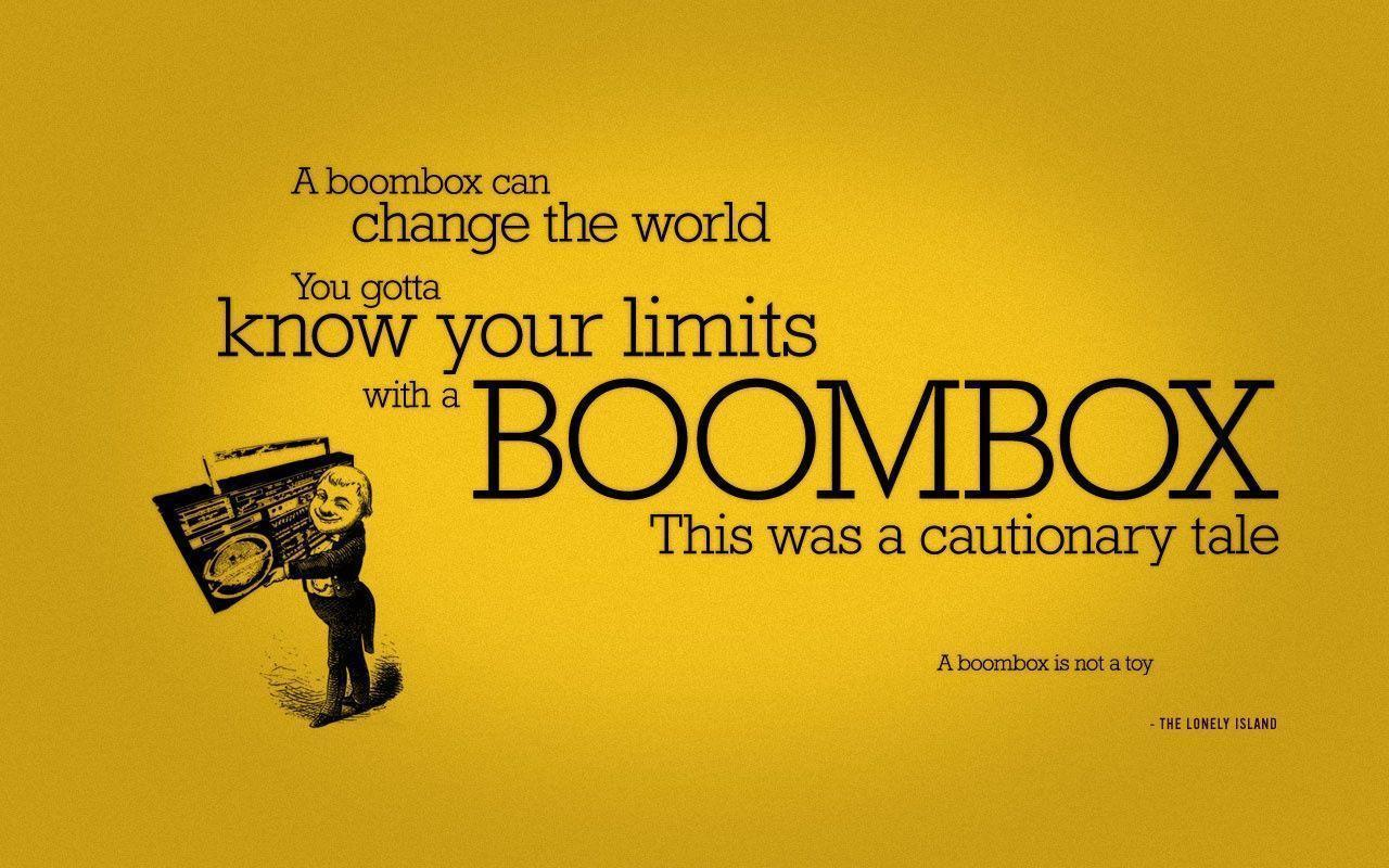 Boombox Can Change Your World Use It With Caution 1280x800 ...