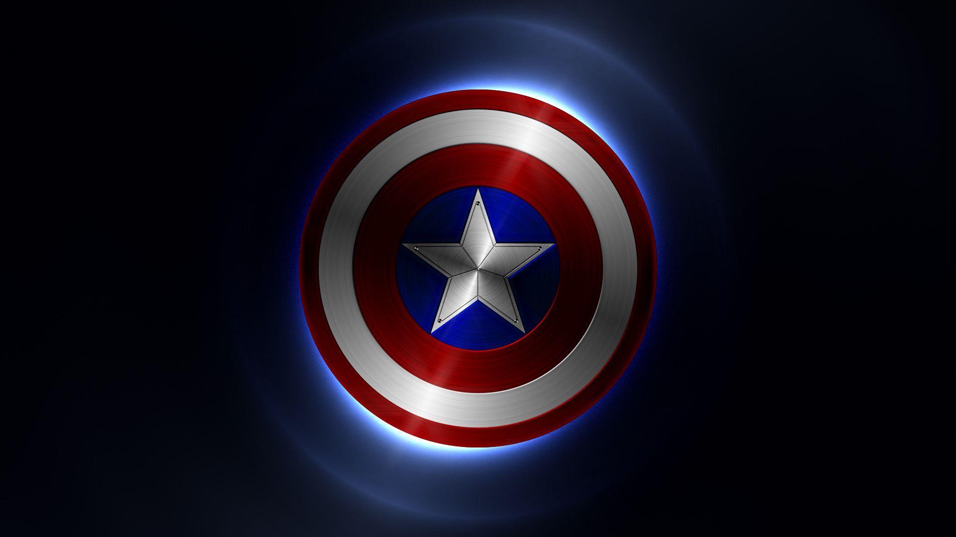 Captain America Logo Wallpaper - WallpaperSafari