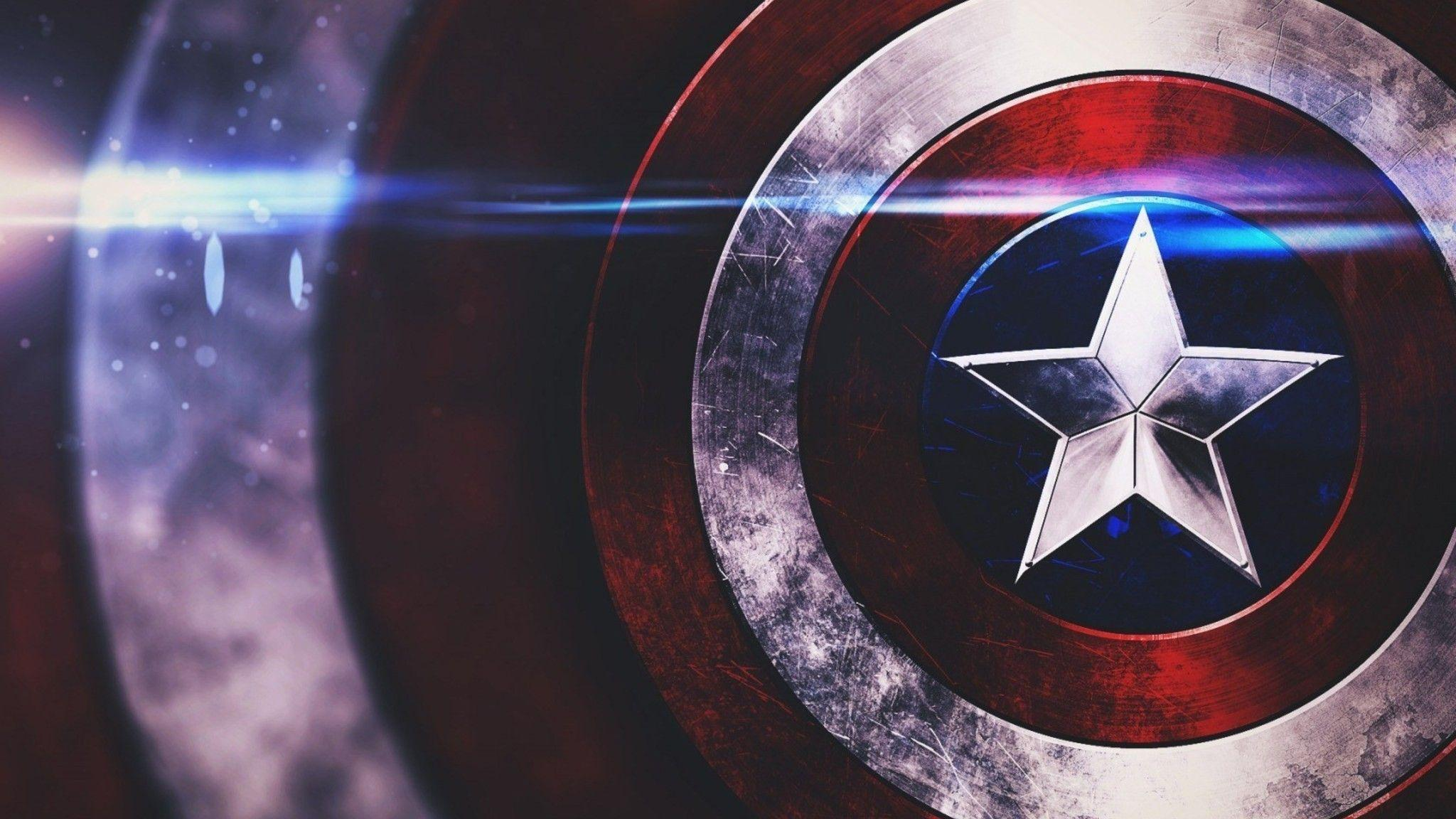 Download Captain America Shield HD Wallpaper In 2048x1152 Screen ...