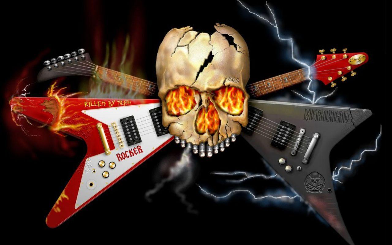 skeleton with guitar images | Music - Guitar Heavy Metal Metal ...