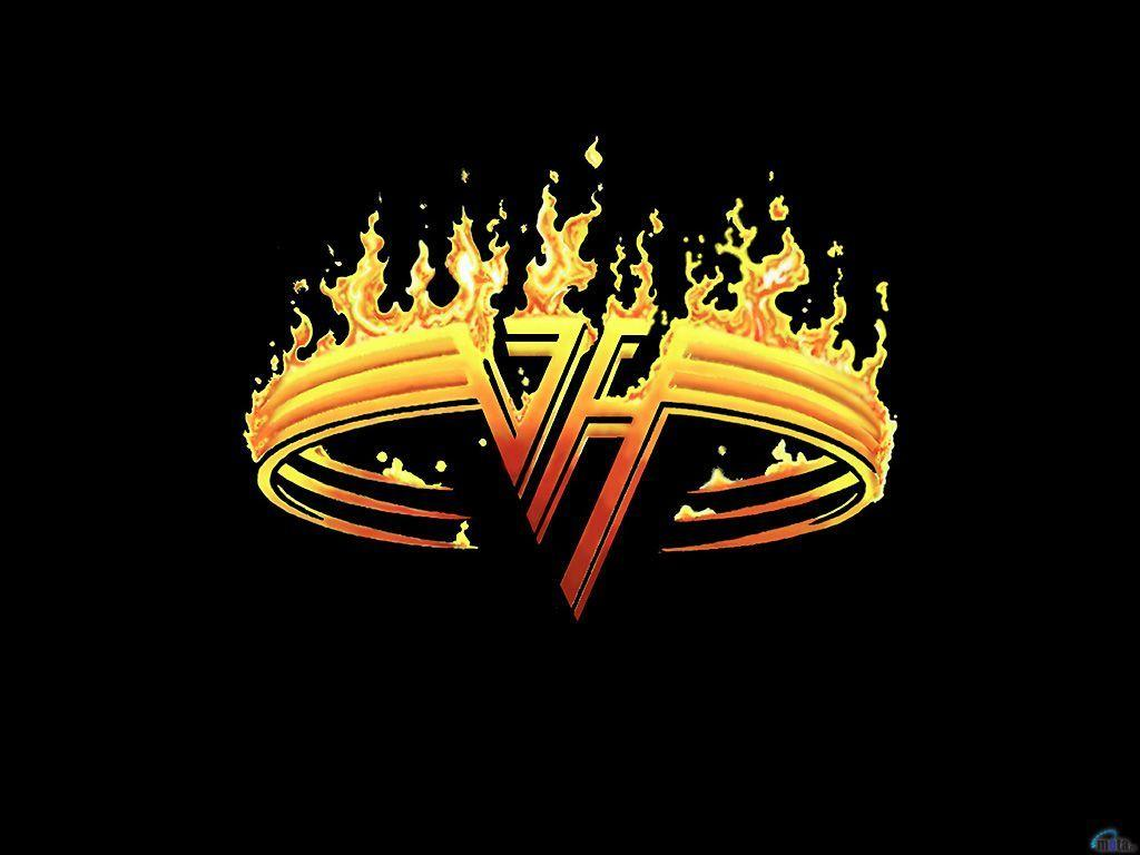 Download Wallpapers black fire van halen, 1024x768, Hard