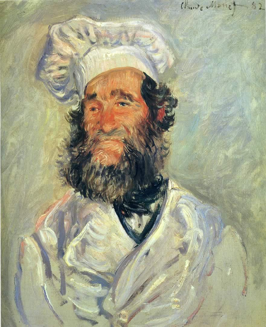 The Chef Pere Paul - Claude Monet Wallpaper Image