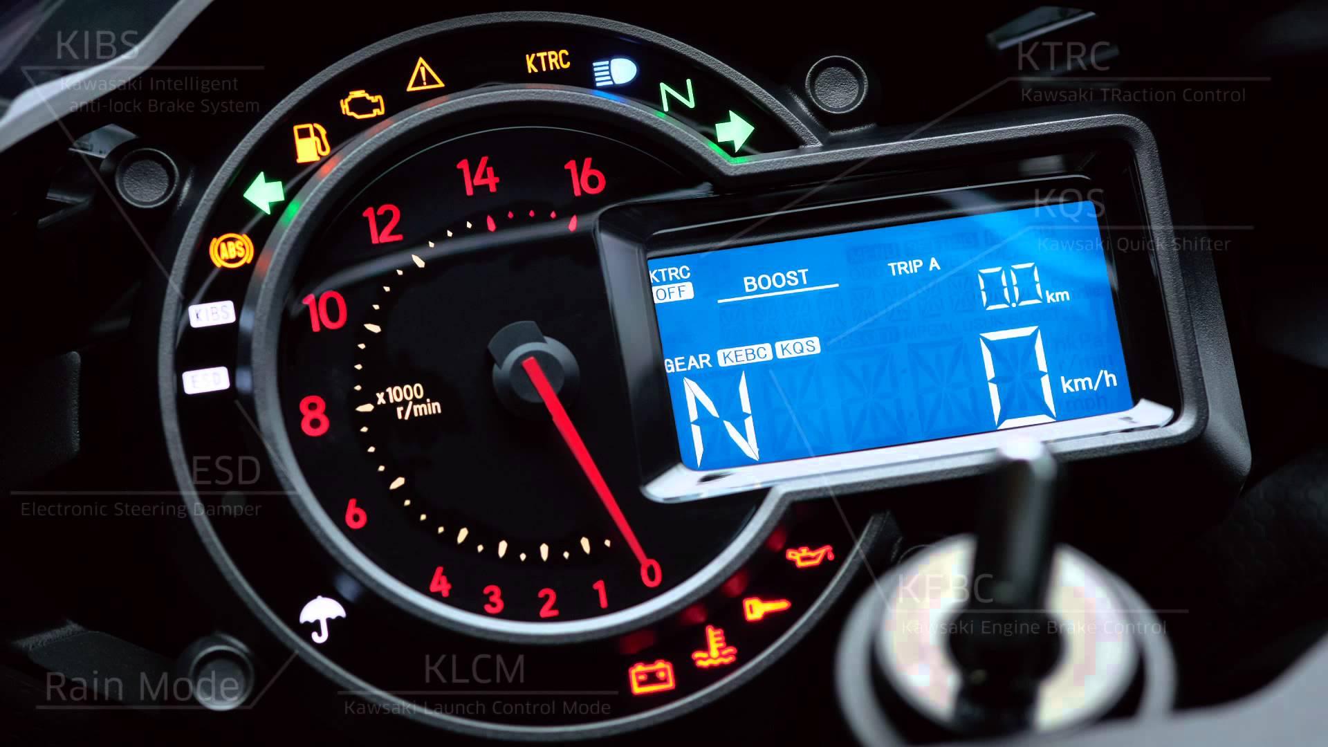2015 Kawasaki Ninja H2R - Electronic Controls - YouTube