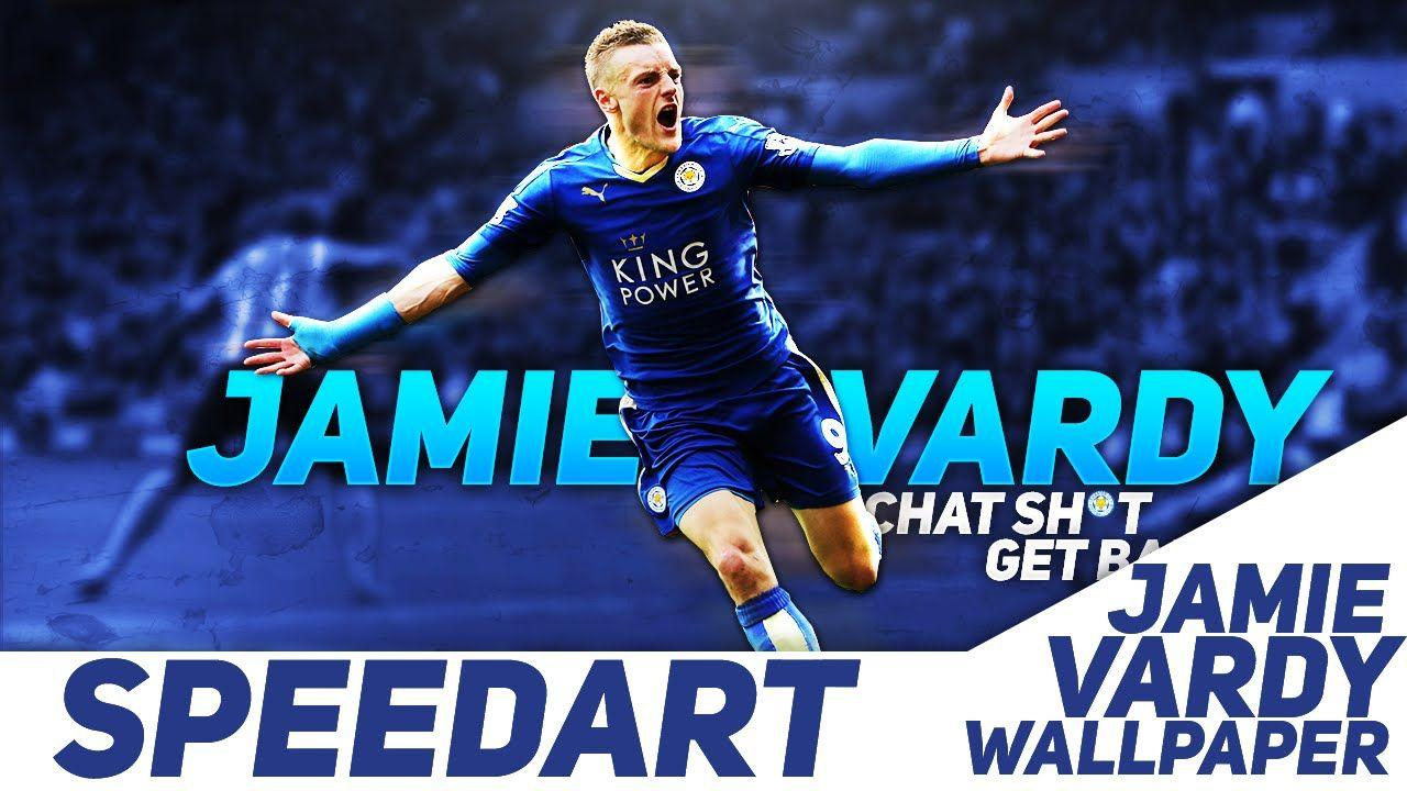 Photoshop Speedart #7: Jamie Vardy Wallpaper | iMacDesigns - YouTube