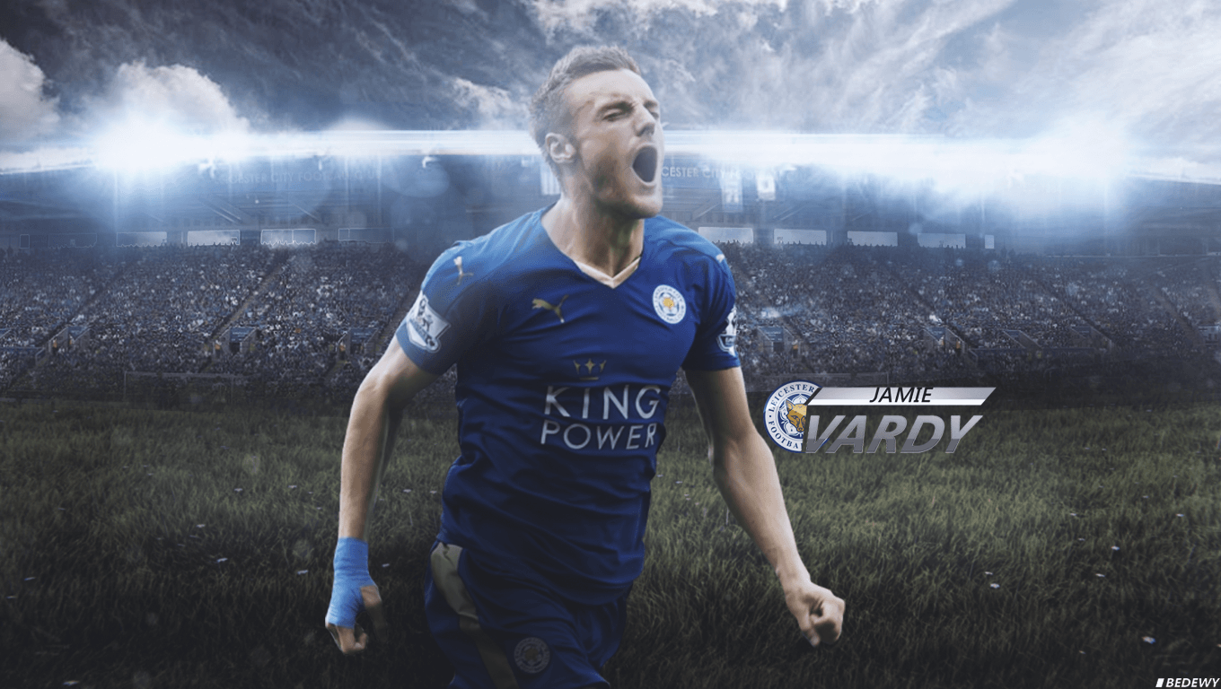 Jamie Vardy wallpaper 2015/2016 by OmarBedewyGFX on DeviantArt