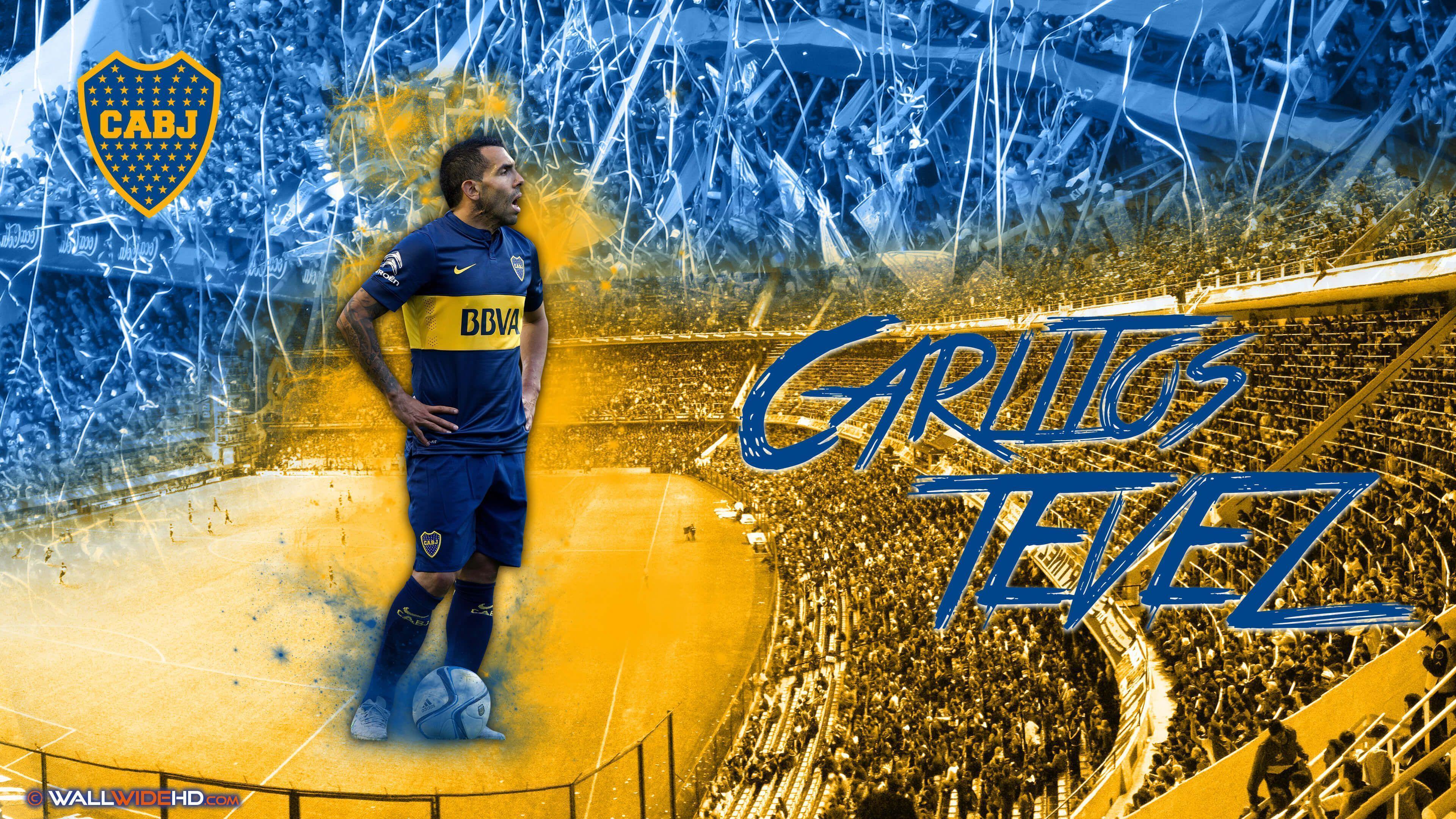 Carlos Tevez 2015 Boca Juniors Ultra HD Fondo de Pantalla fondos ...