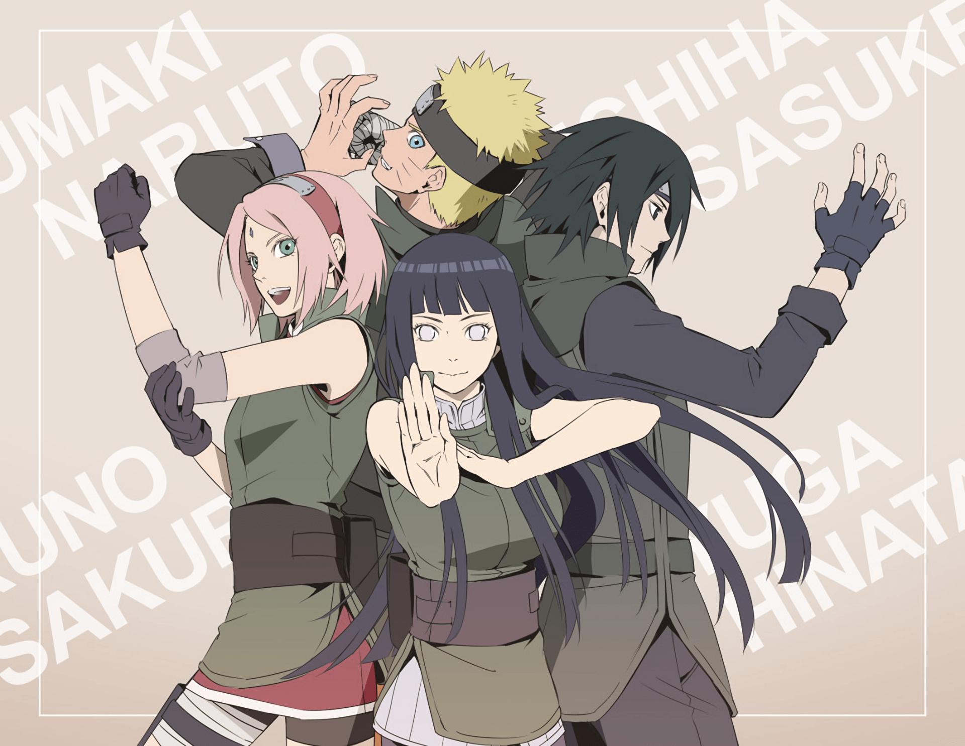 Download 1920x1485 Naruto, Team 7, Sakura, Sasuke, Hinata ...