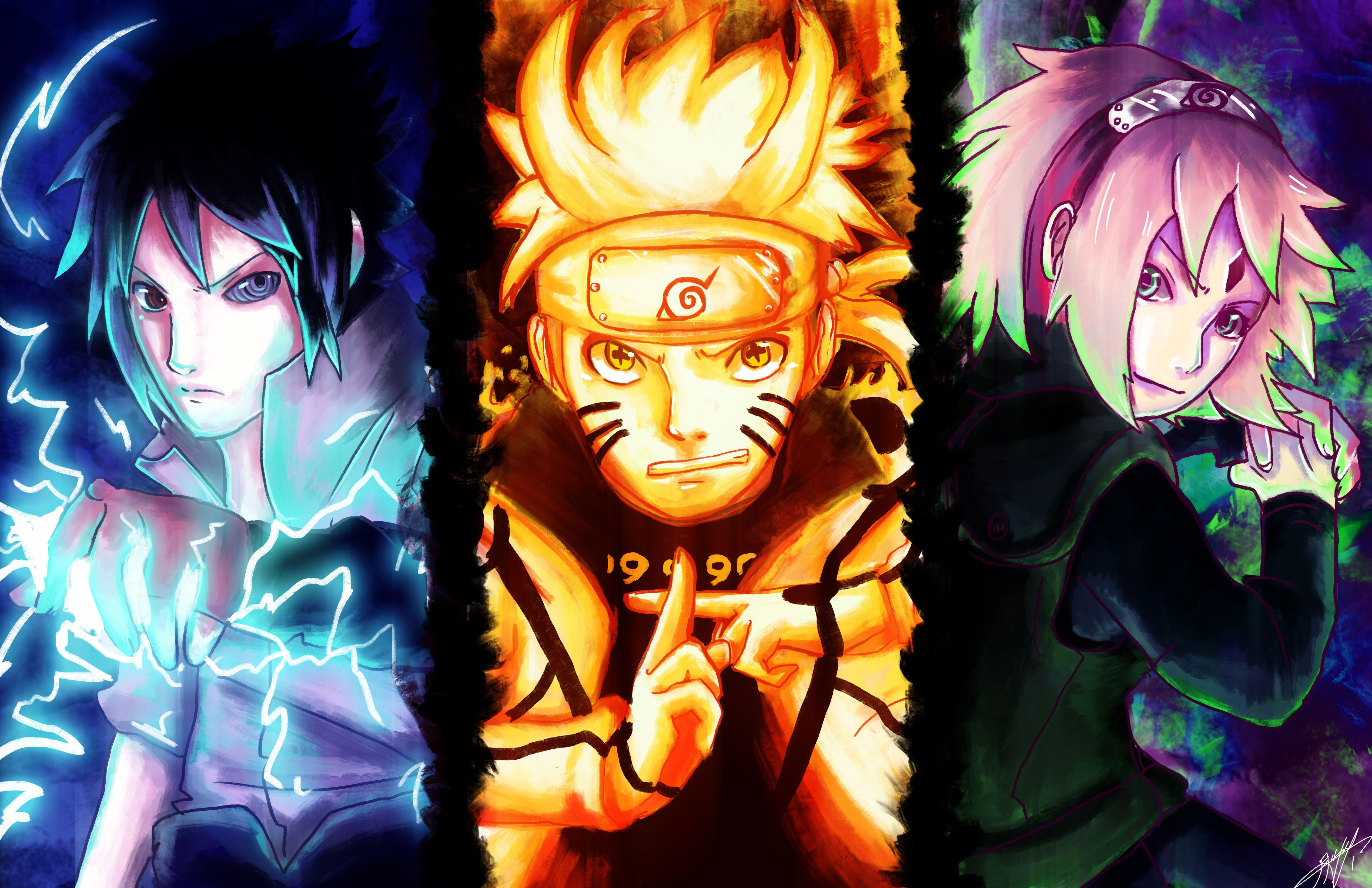 Team 7: Sasuke, Naruto and Sakura Computer Wallpapers, Desktop ...