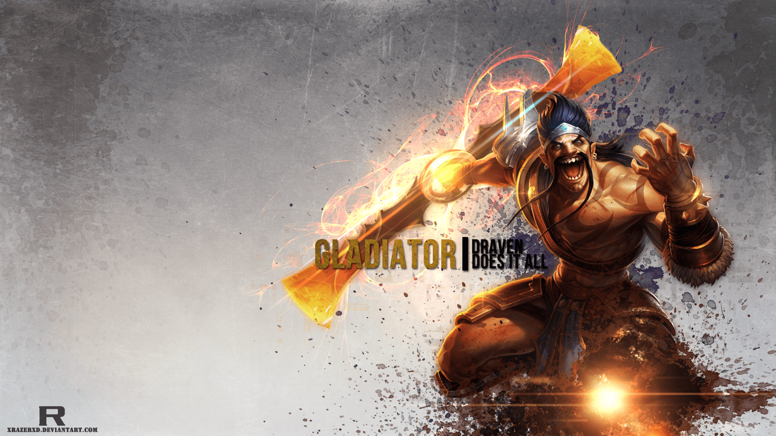 LoL -Gladiator Draven Wallpaper by xRazerxD on DeviantArt