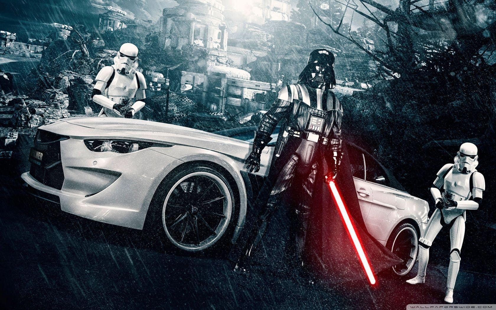 Darth Vader and Stormtroopers HD desktop wallpaper : High ...